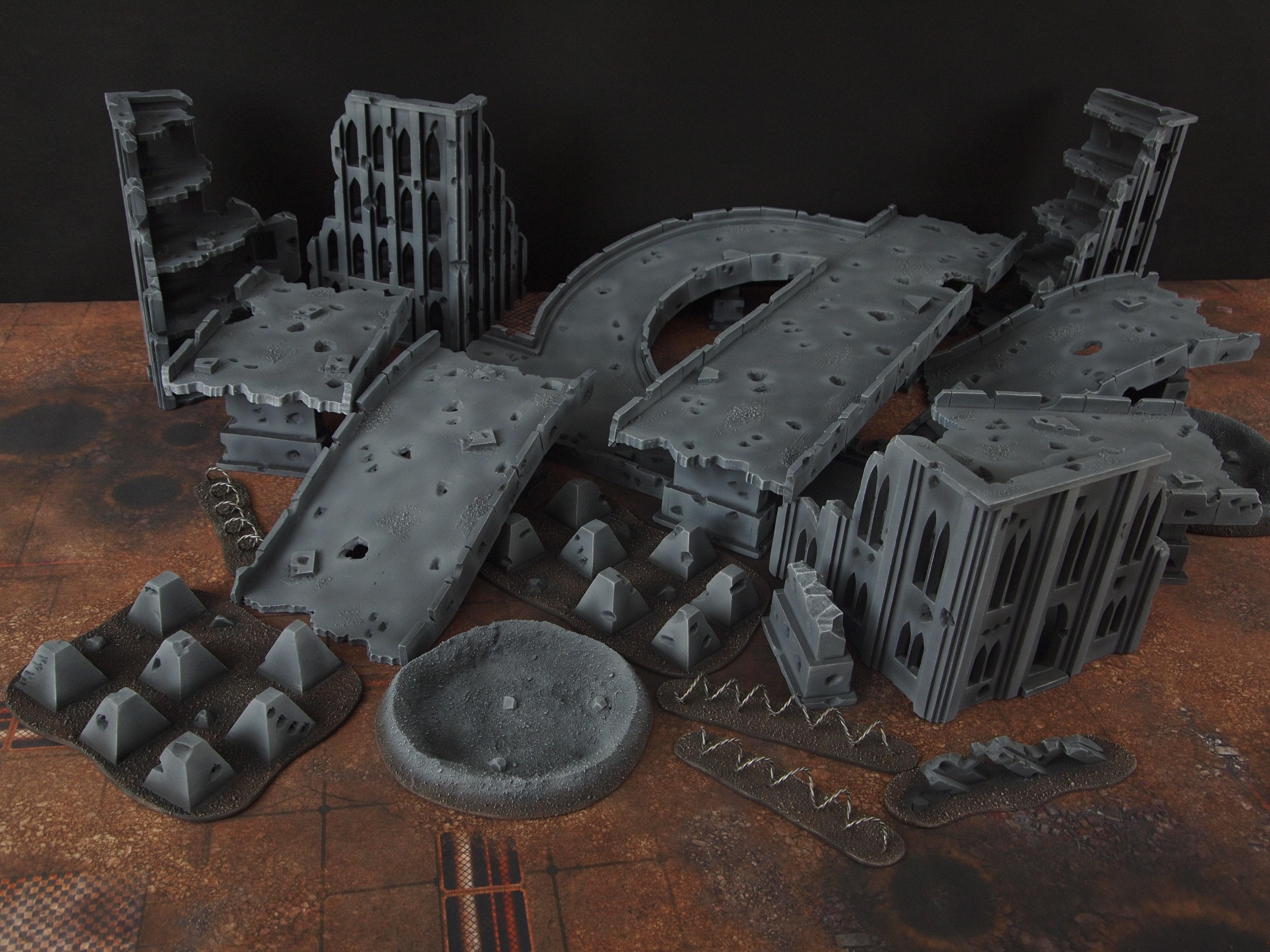 Chutes & Grim Dark Ladders - Cityfight Terrain - Spikey Bits