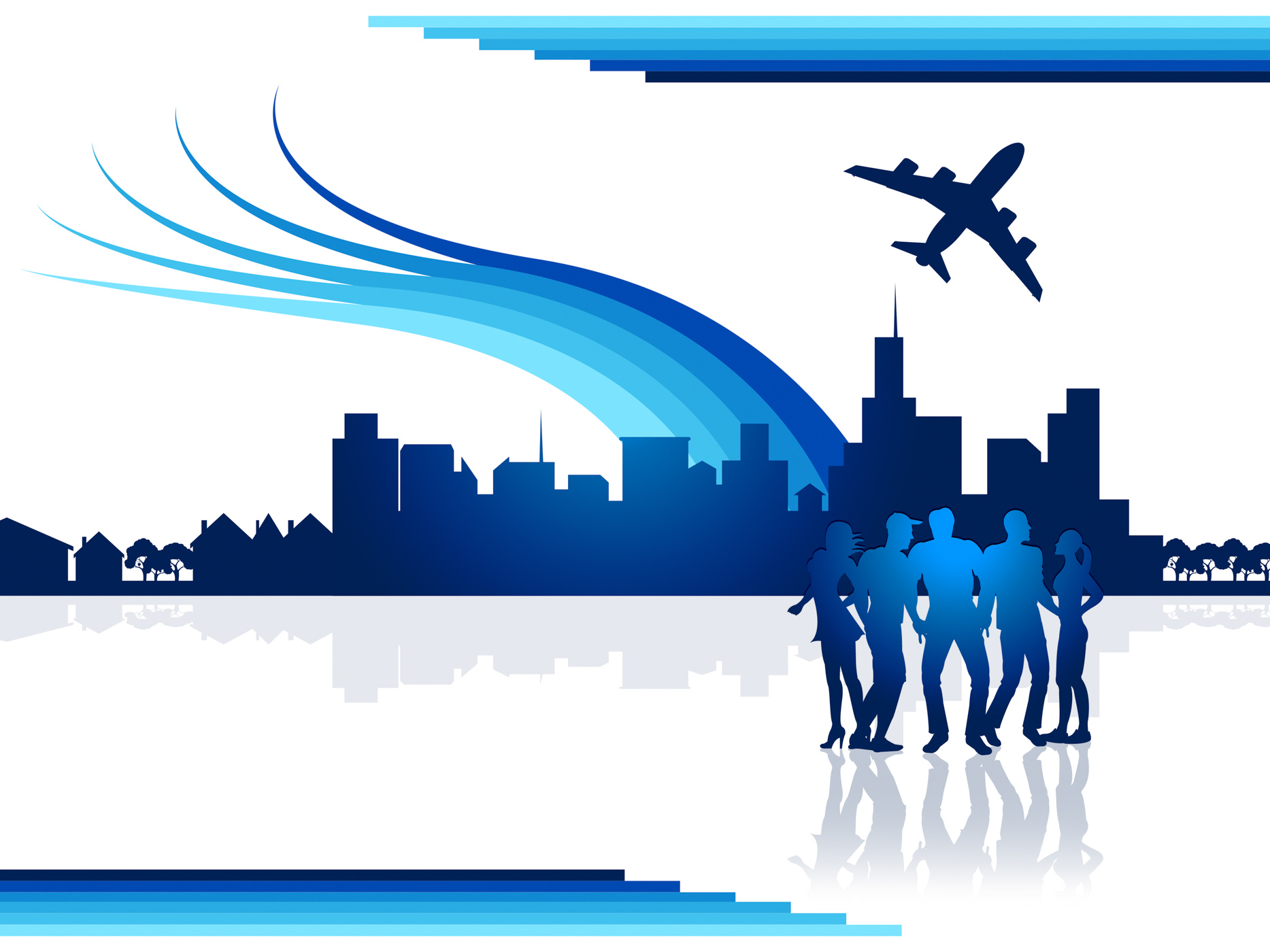 City flights represents transportation aeroplane and airplane photo