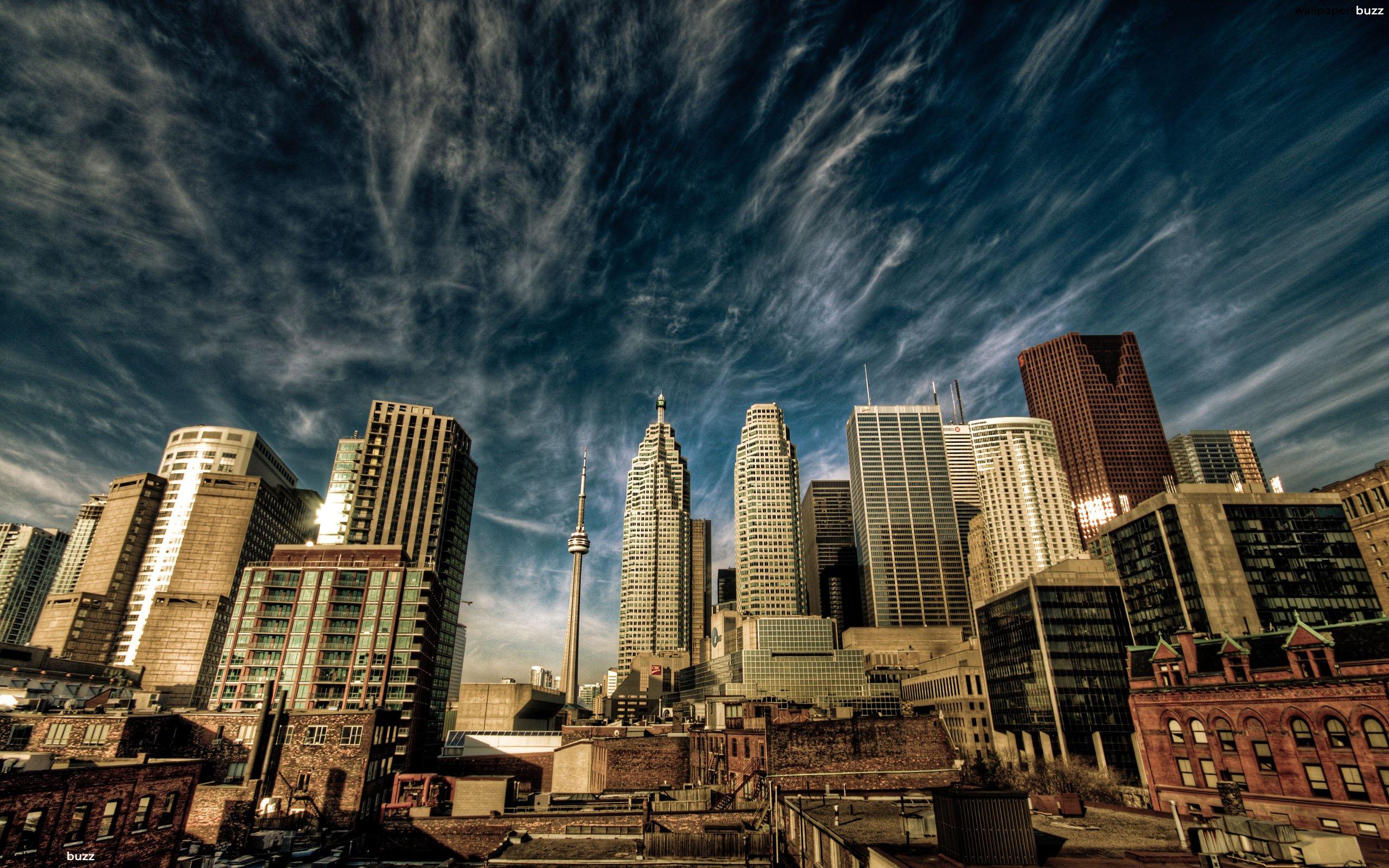 City Landscape of Toronto HD Wallpaper