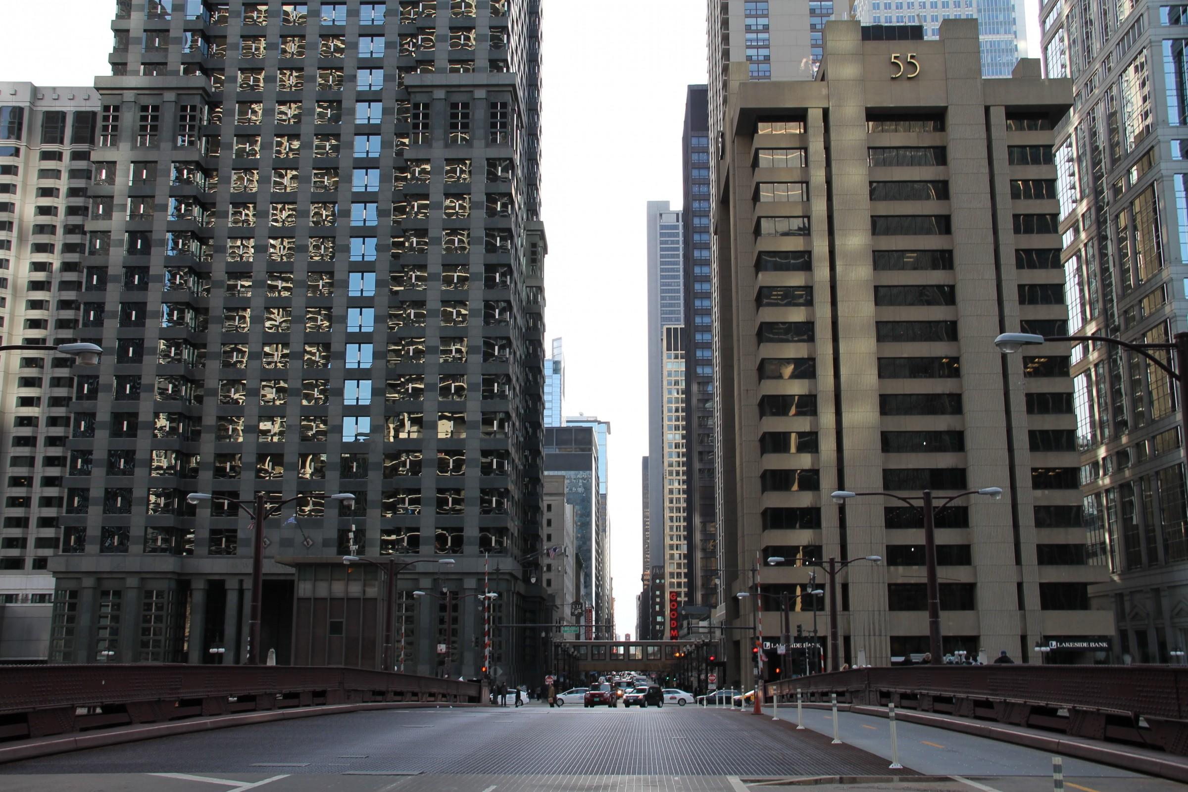 Free Stock Photo of Bridge Street Into City Buildings