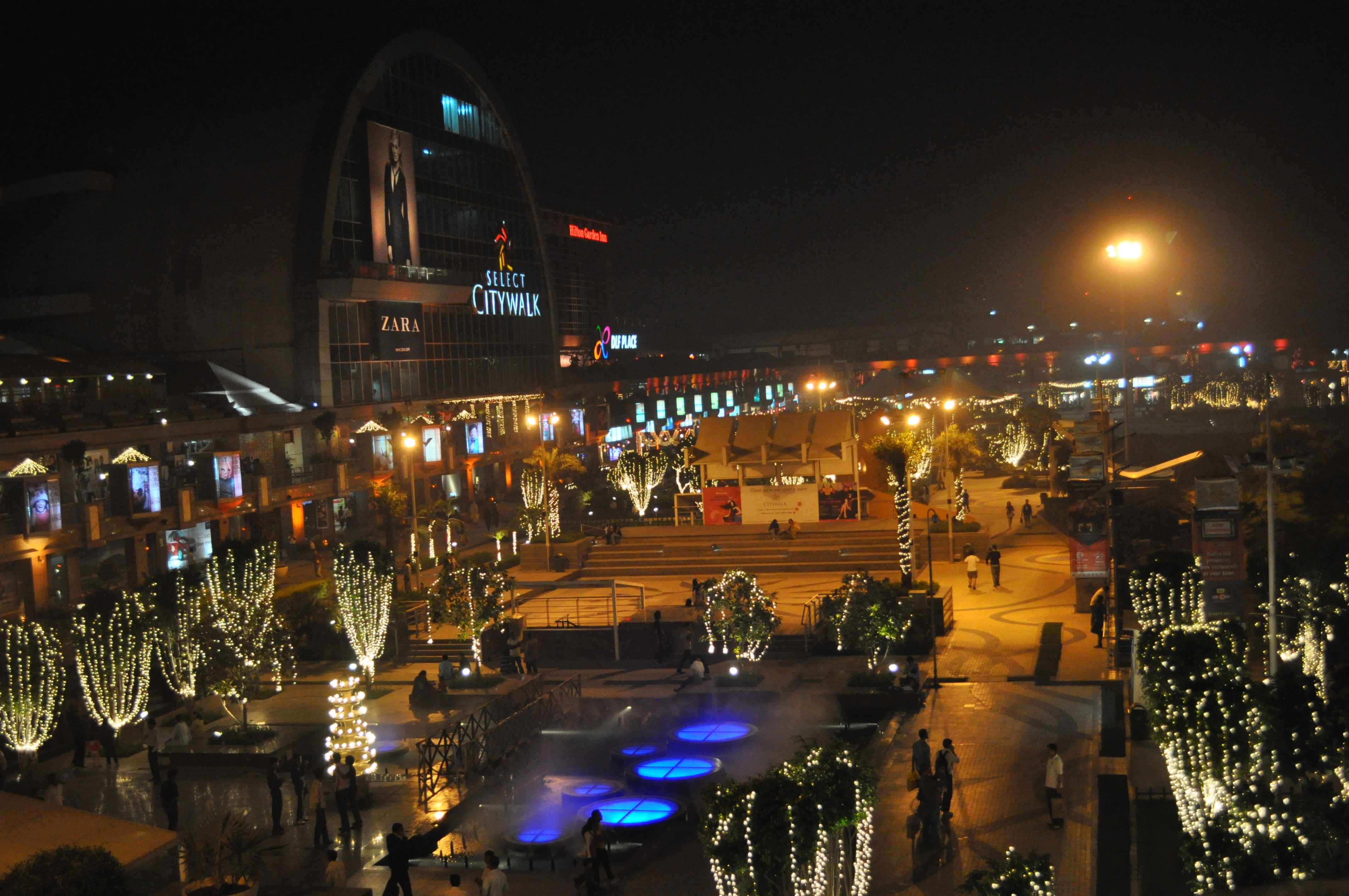 File:Festival of Lights Diwali Retail City Walk in Delhi India lit ...
