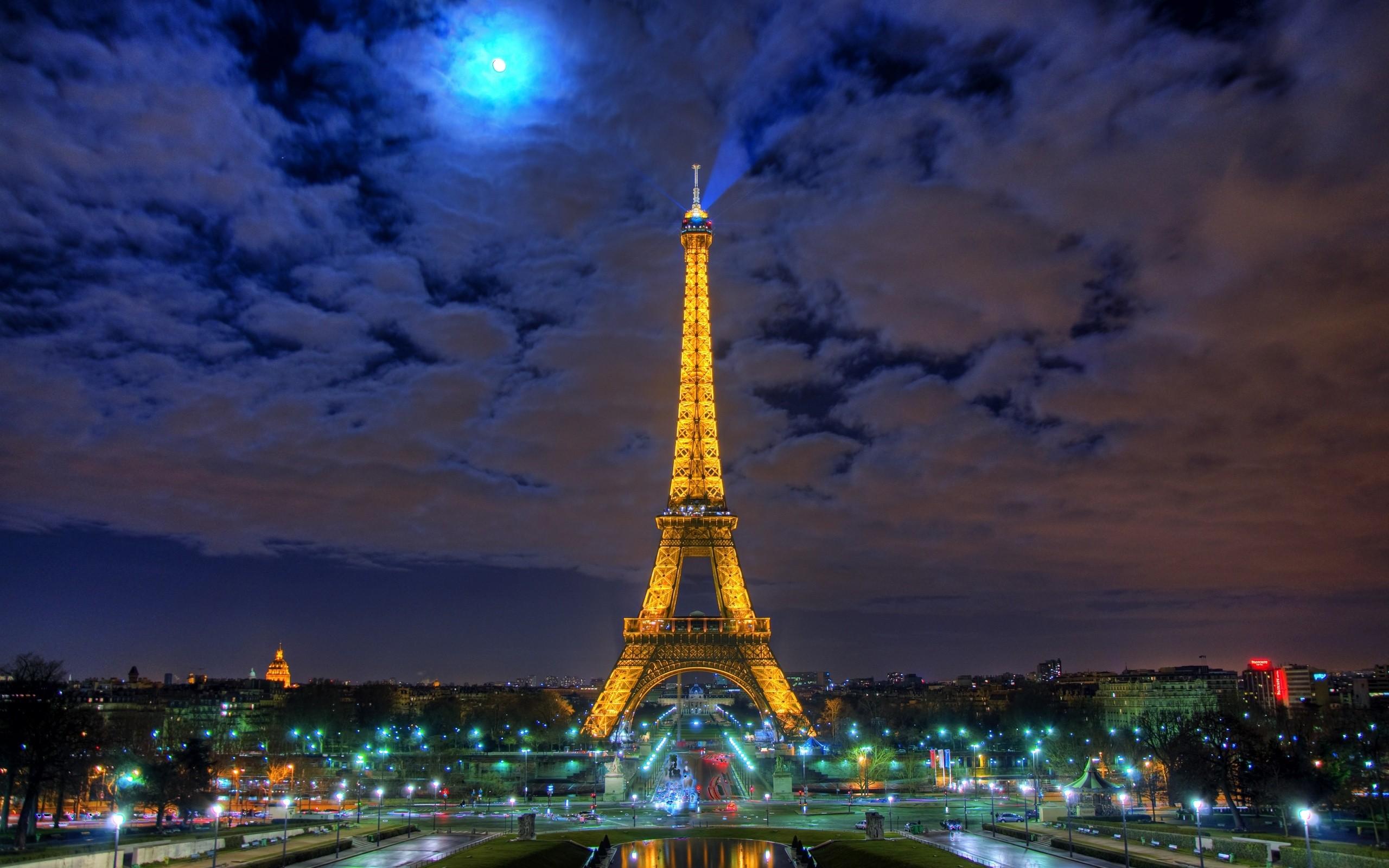 city lights, Paris, Eiffel Tower :: Wallpapers