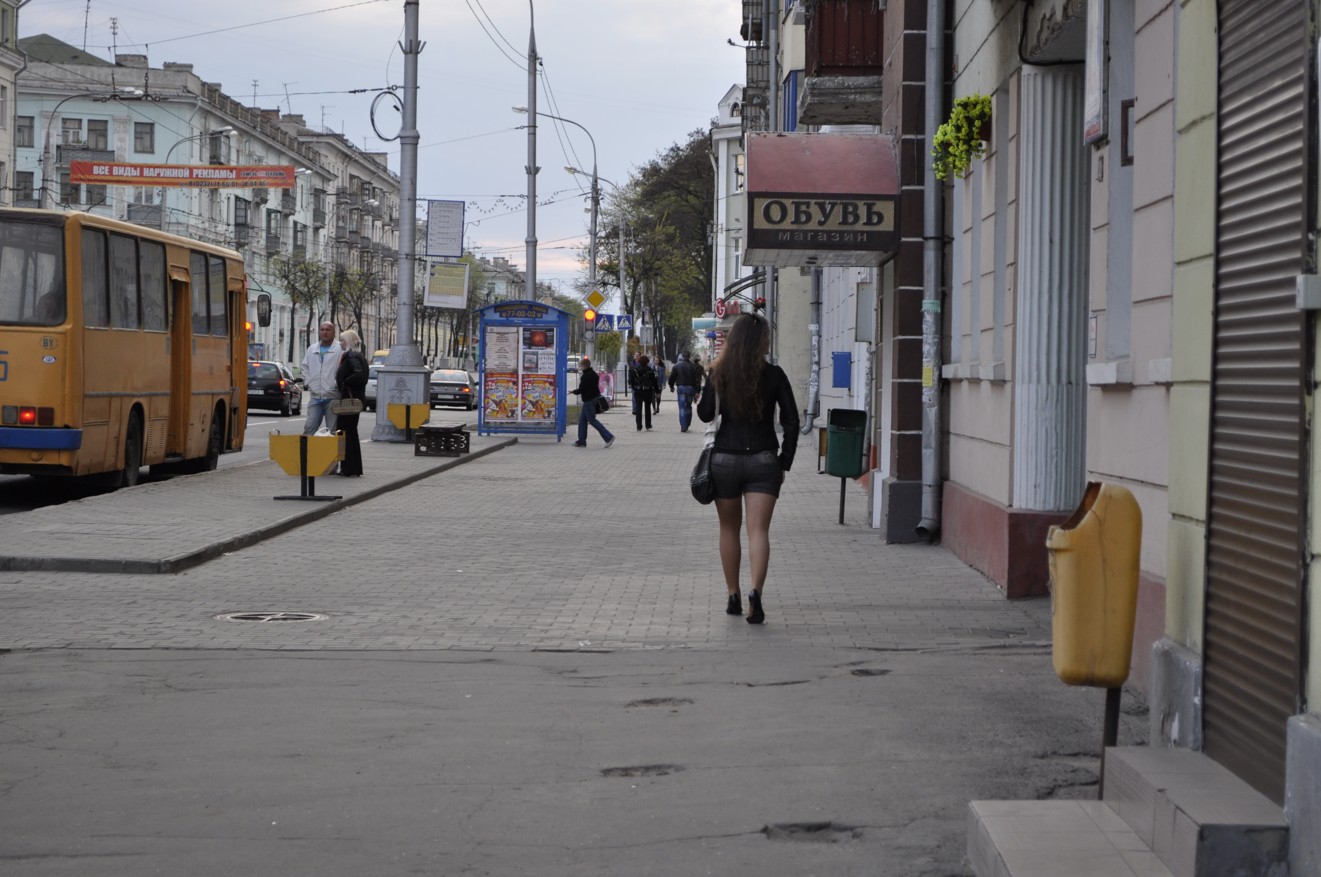 City street, City, Sidewalk, Street, Walking, HQ Photo
