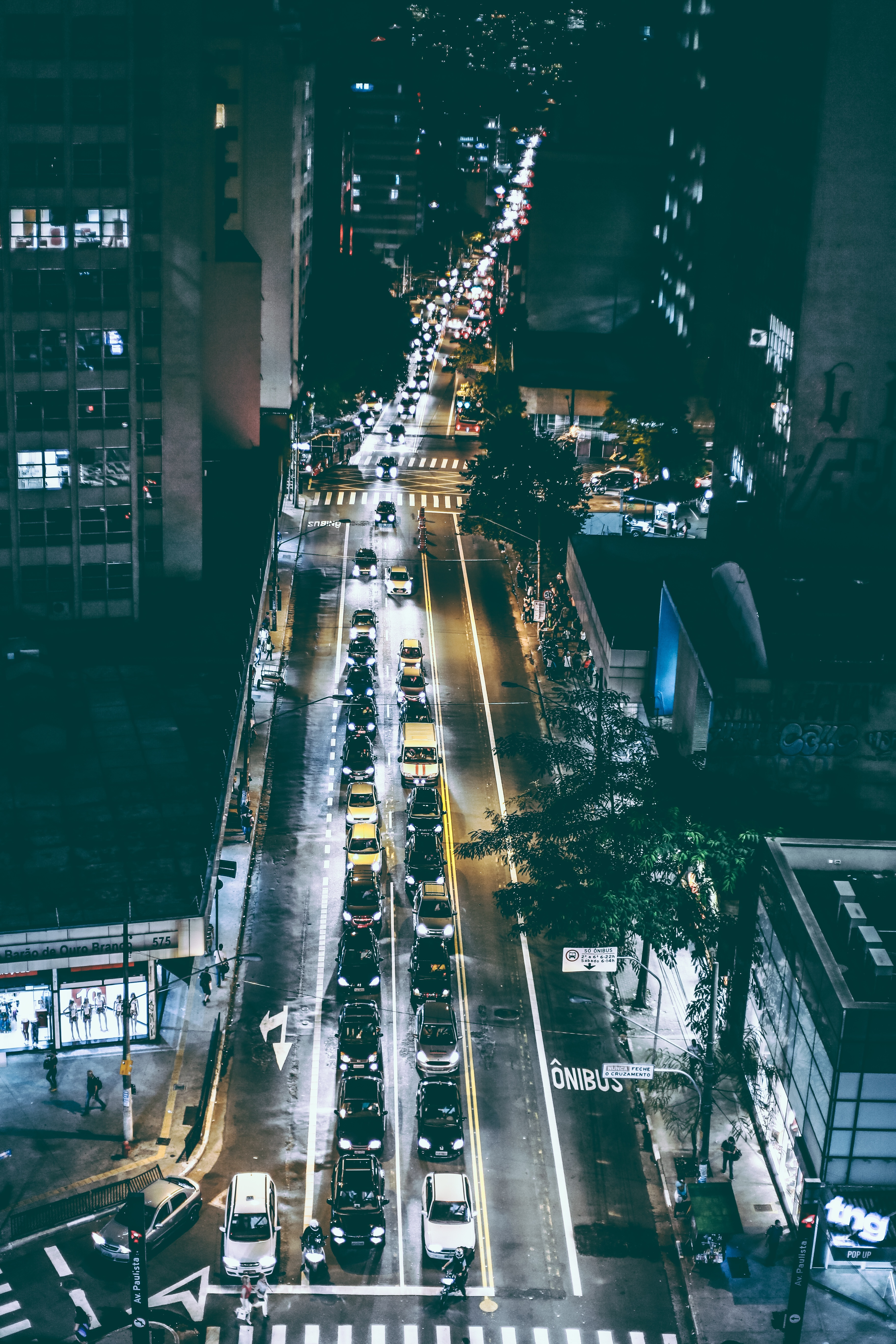 City Street, City, Night, Road, Street, HQ Photo