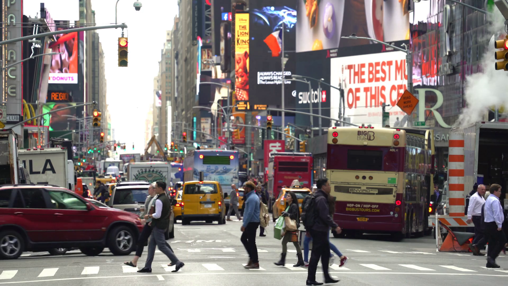 New York city traffic, Time Square street view - Manhattan Stock ...