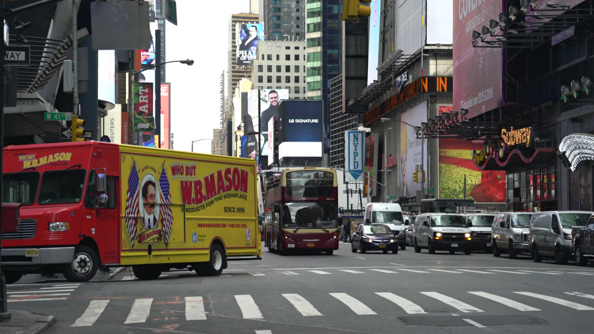 New York city traffic, street view - Manhattan Stock Video Footage ...