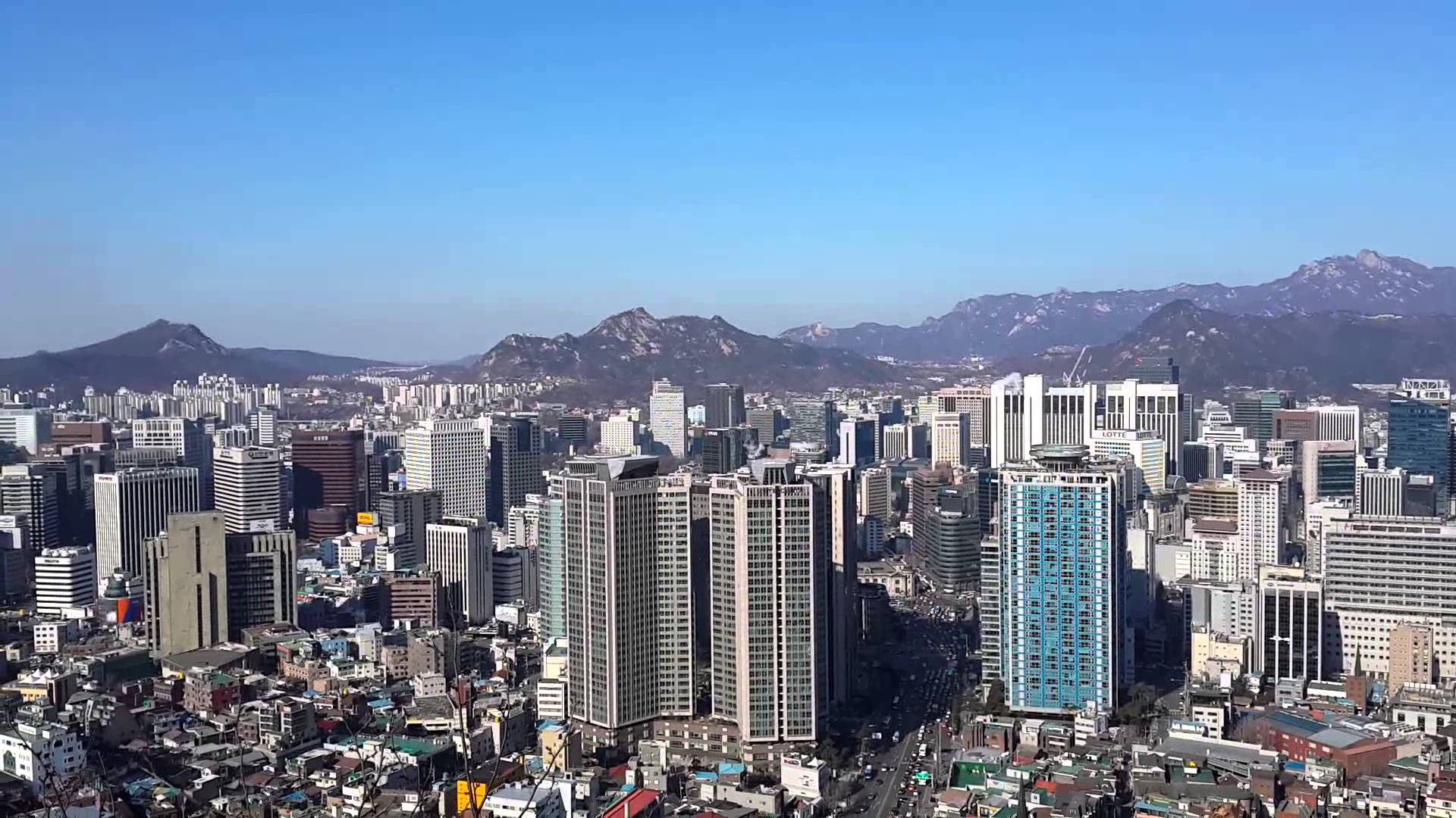 Seoul City View from Namsan Park - YouTube
