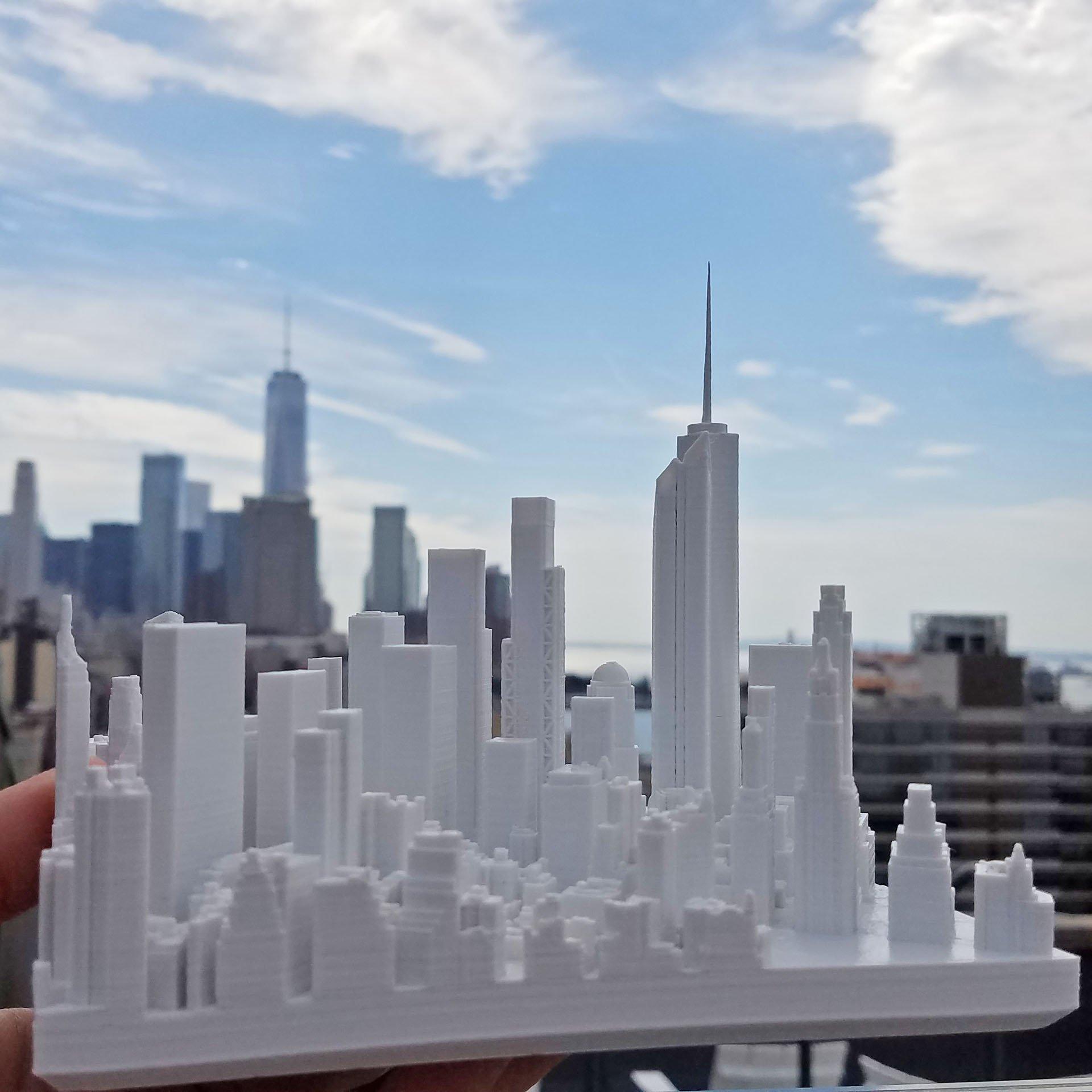 Microscape | 3D-Printed Architectural Cityscape Models