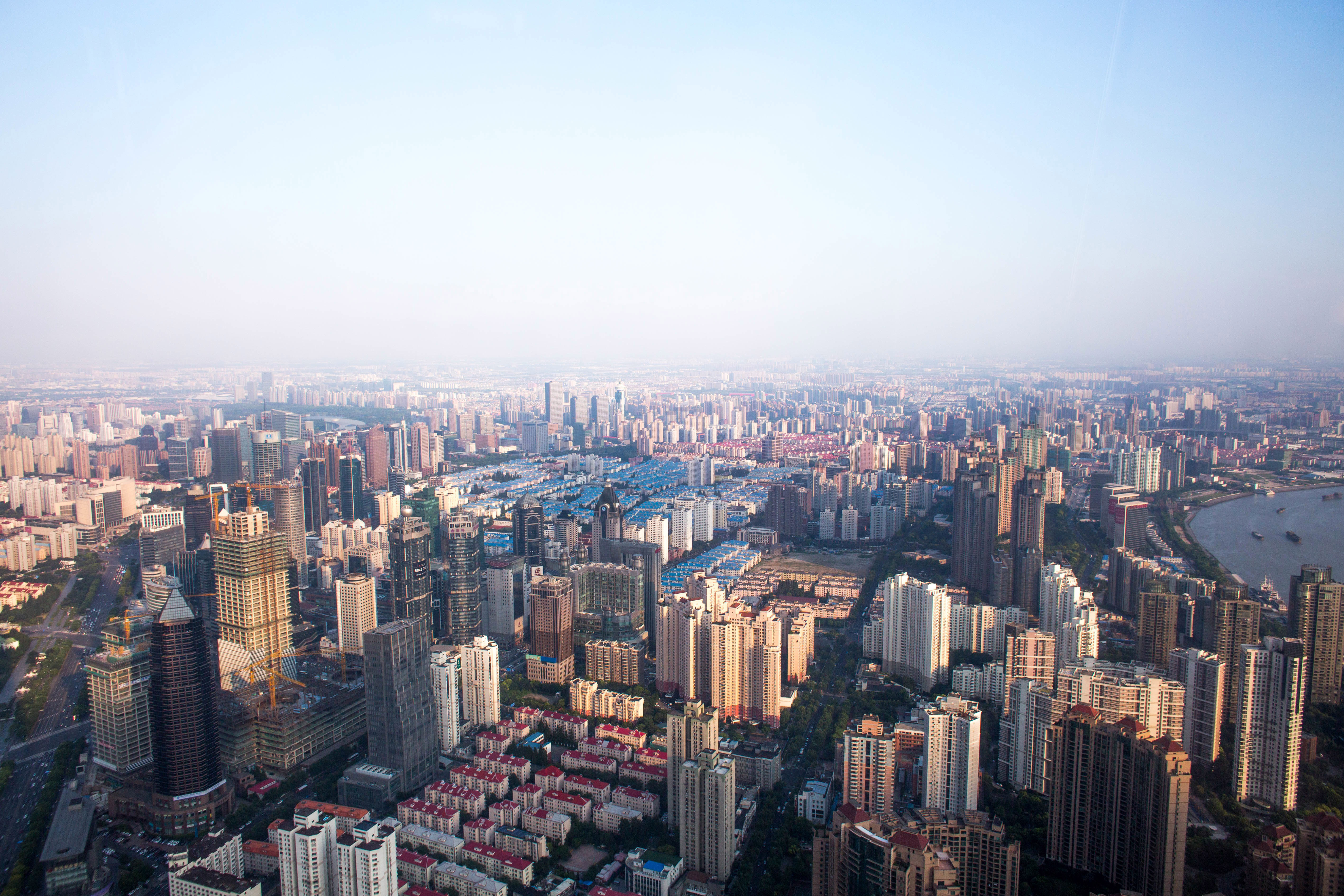 Overlook of Shanghai Cityscape in China image - Free stock photo ...