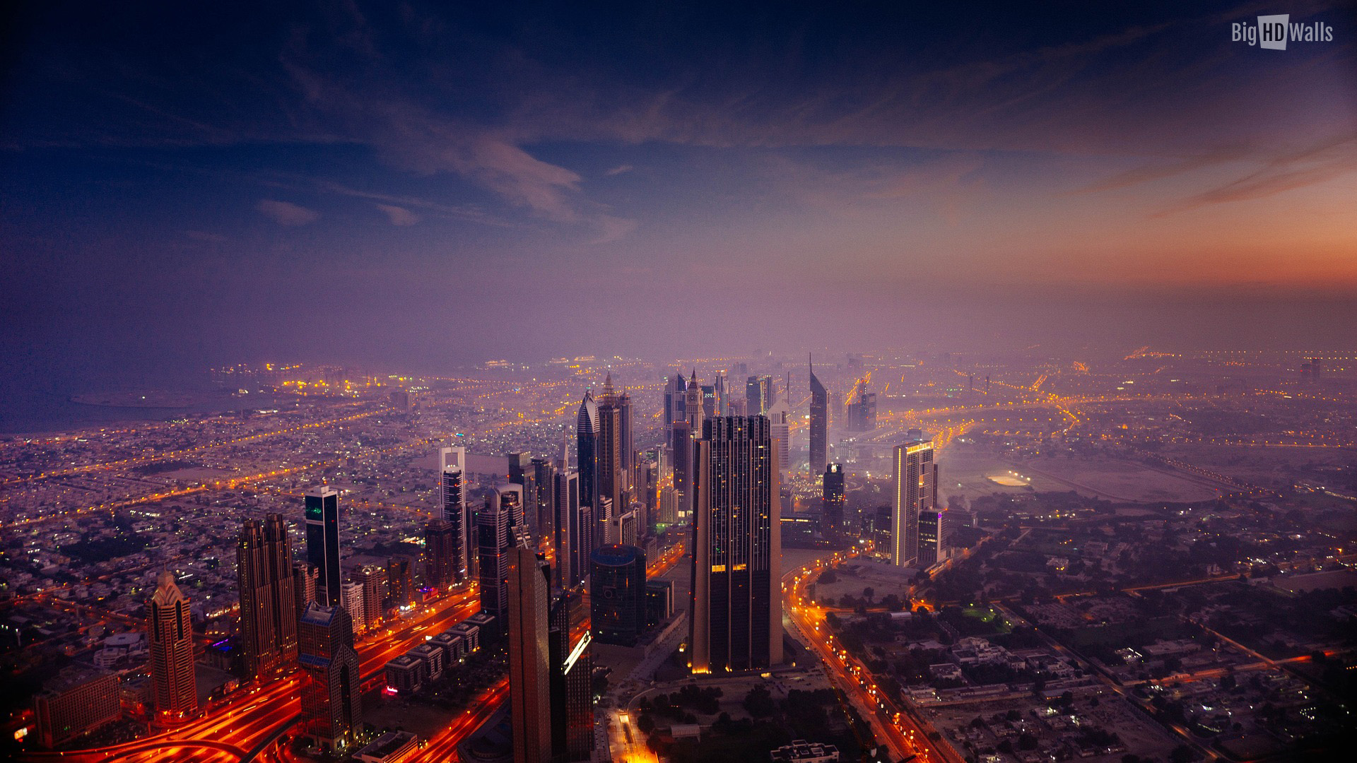 Cityscape from above HD Wallpaper | BigHDWalls