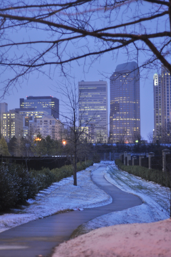 Cityscape of uptown charlotte photo