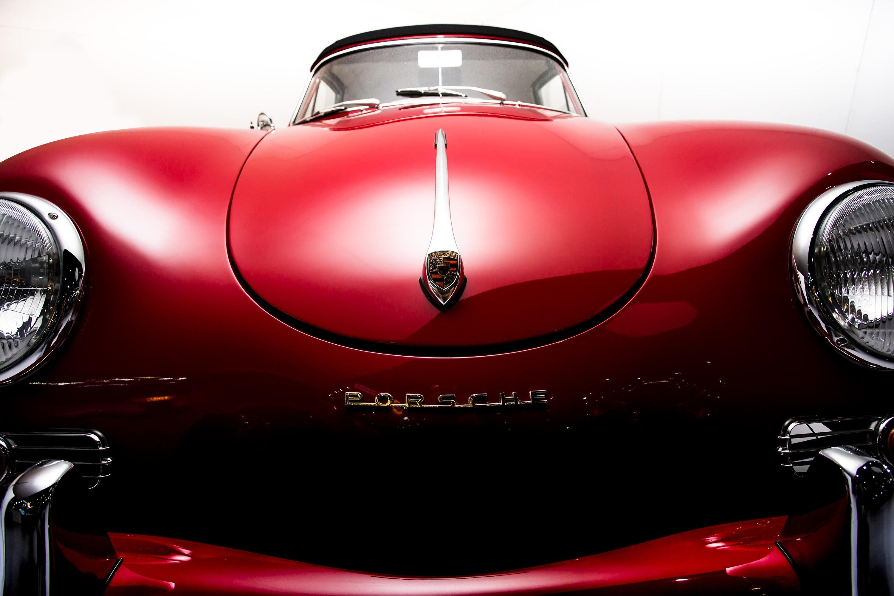 Classic red porsche car photo