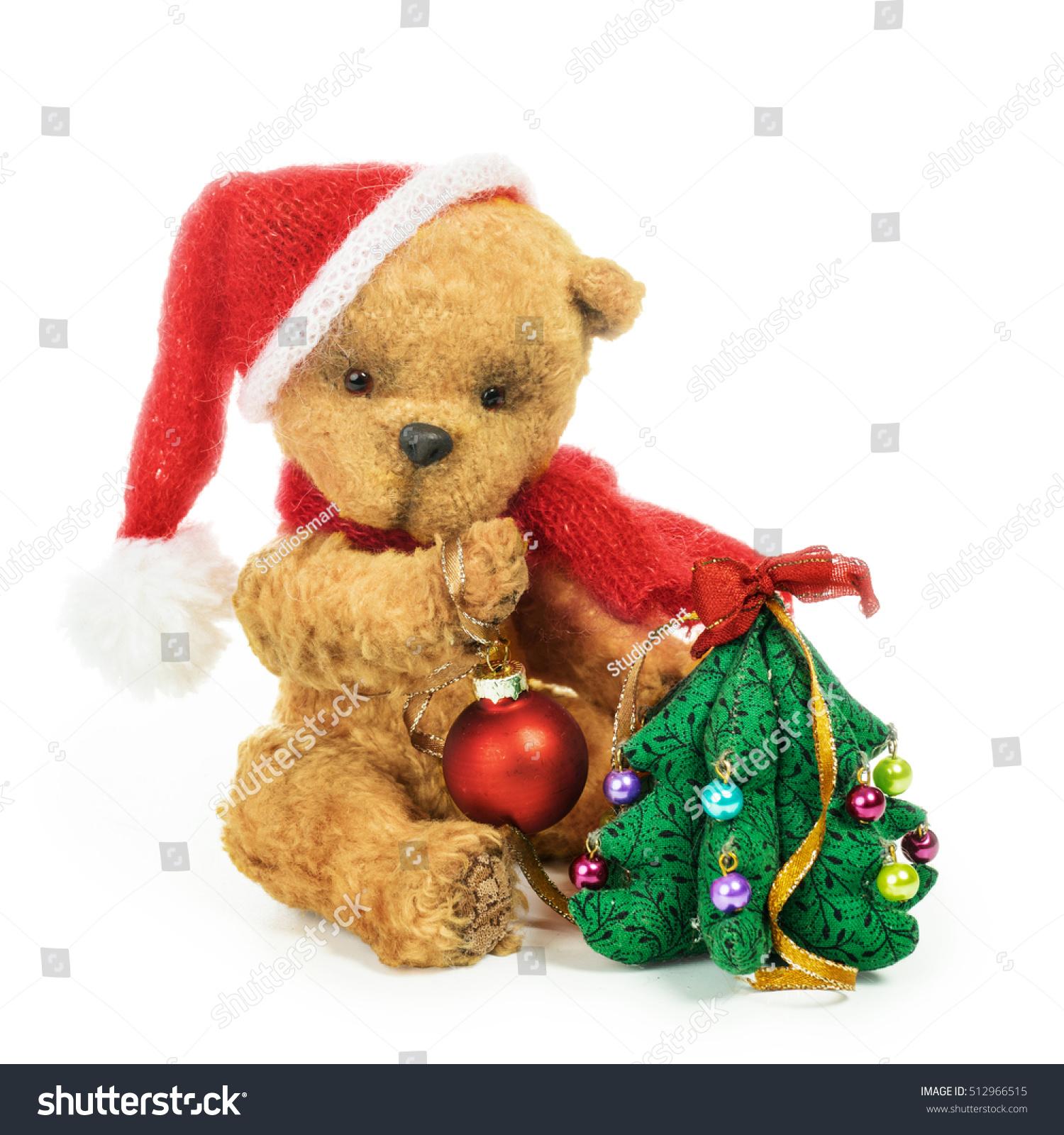 Cute Classic Teddy Bear Christmas Tree Stock Photo 512966515 ...
