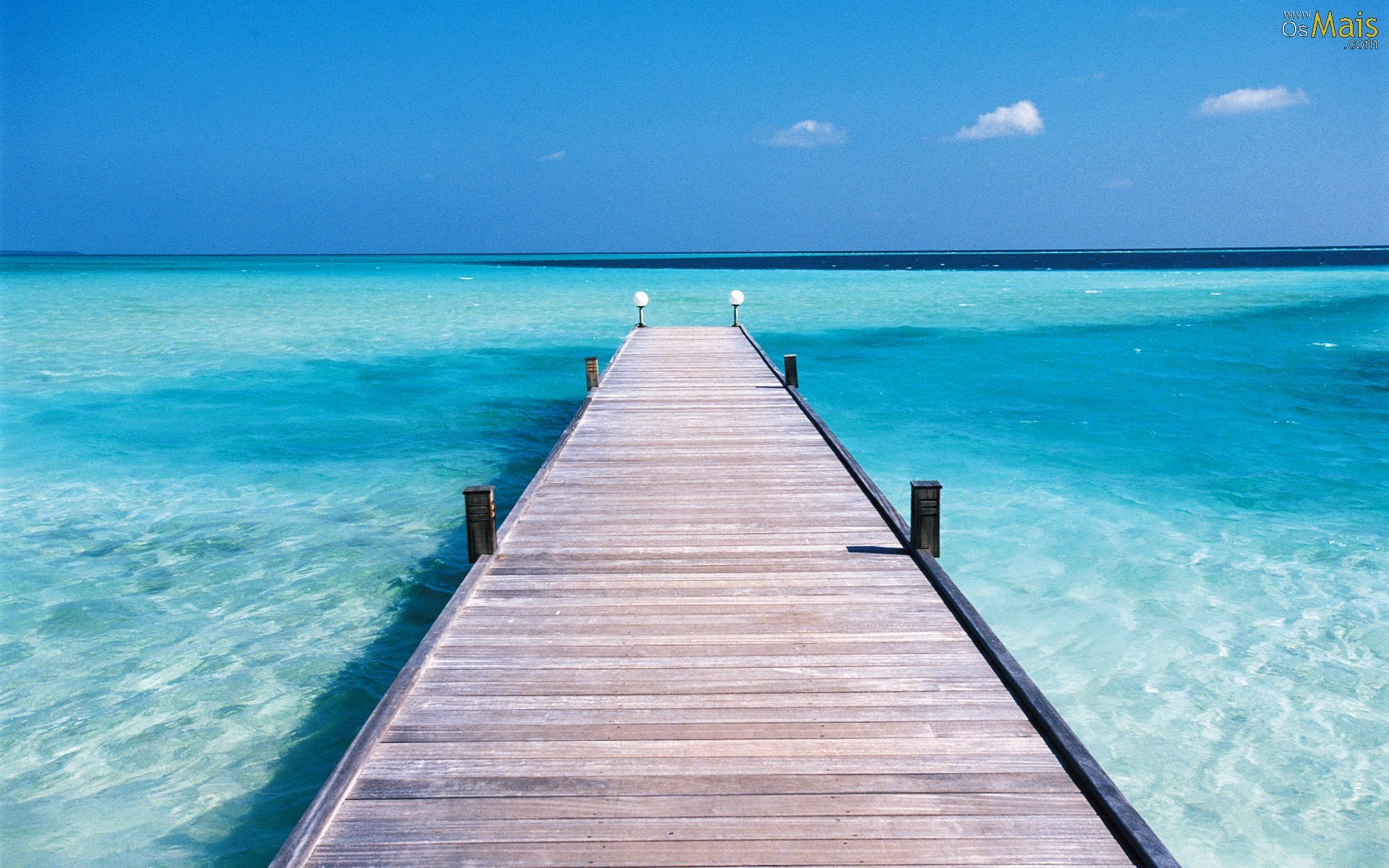 Pier In The Clear Blue Sea - WallDevil