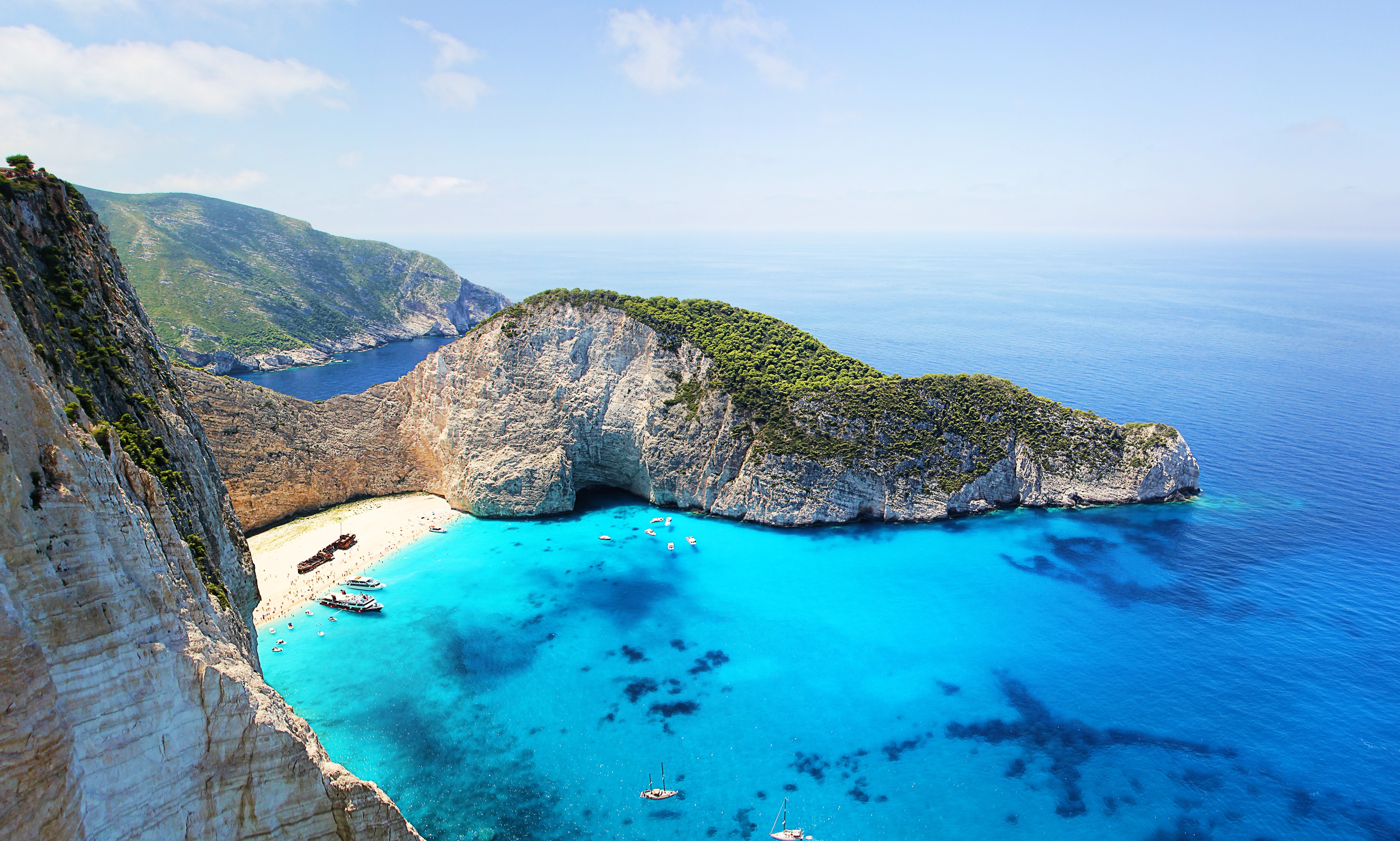 Clear Blue Sea, Bay, Scenic, Water, Vacation, HQ Photo