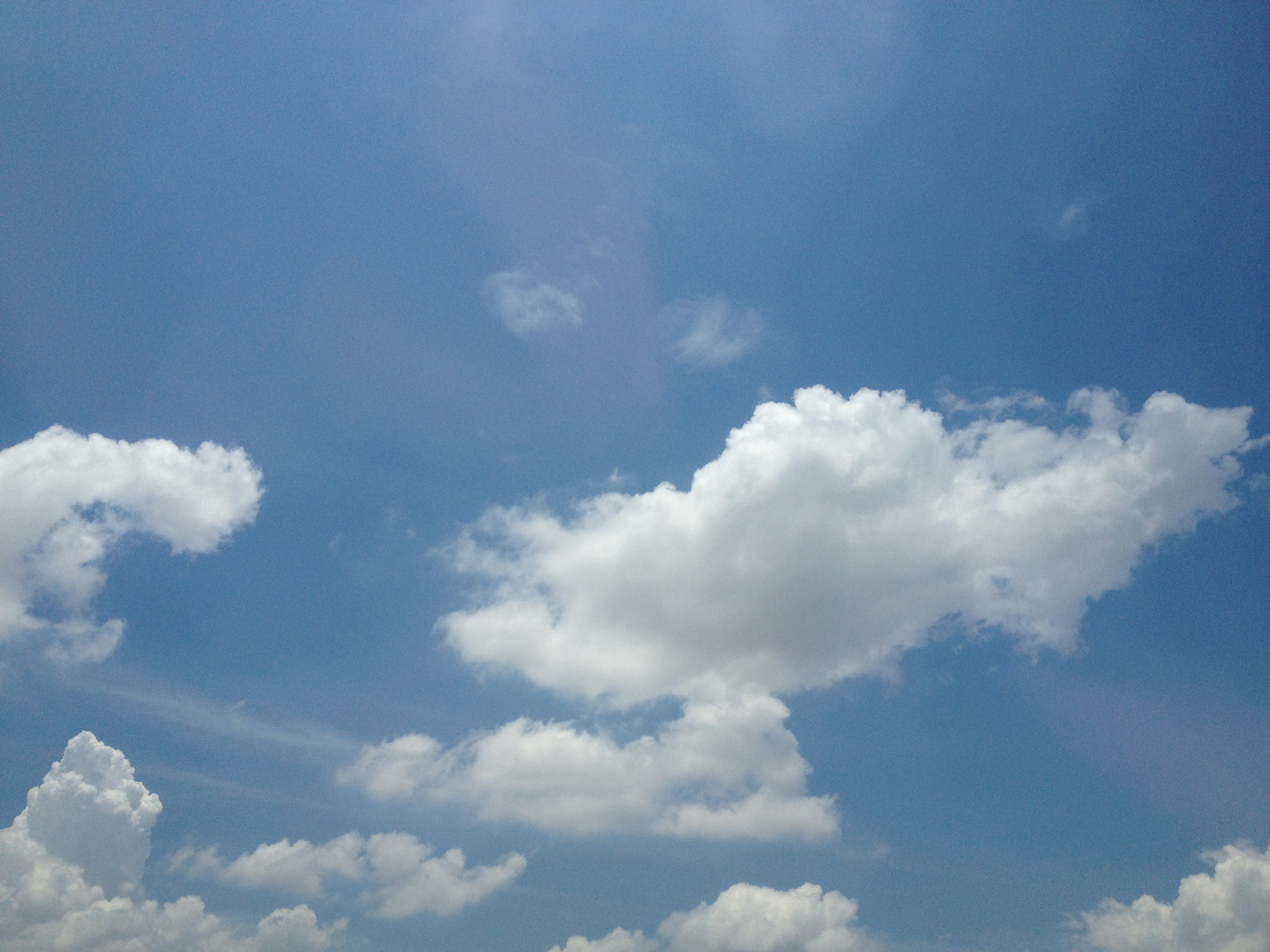 Free photo: Clear Blue Sky - Background, High, View - Free ...