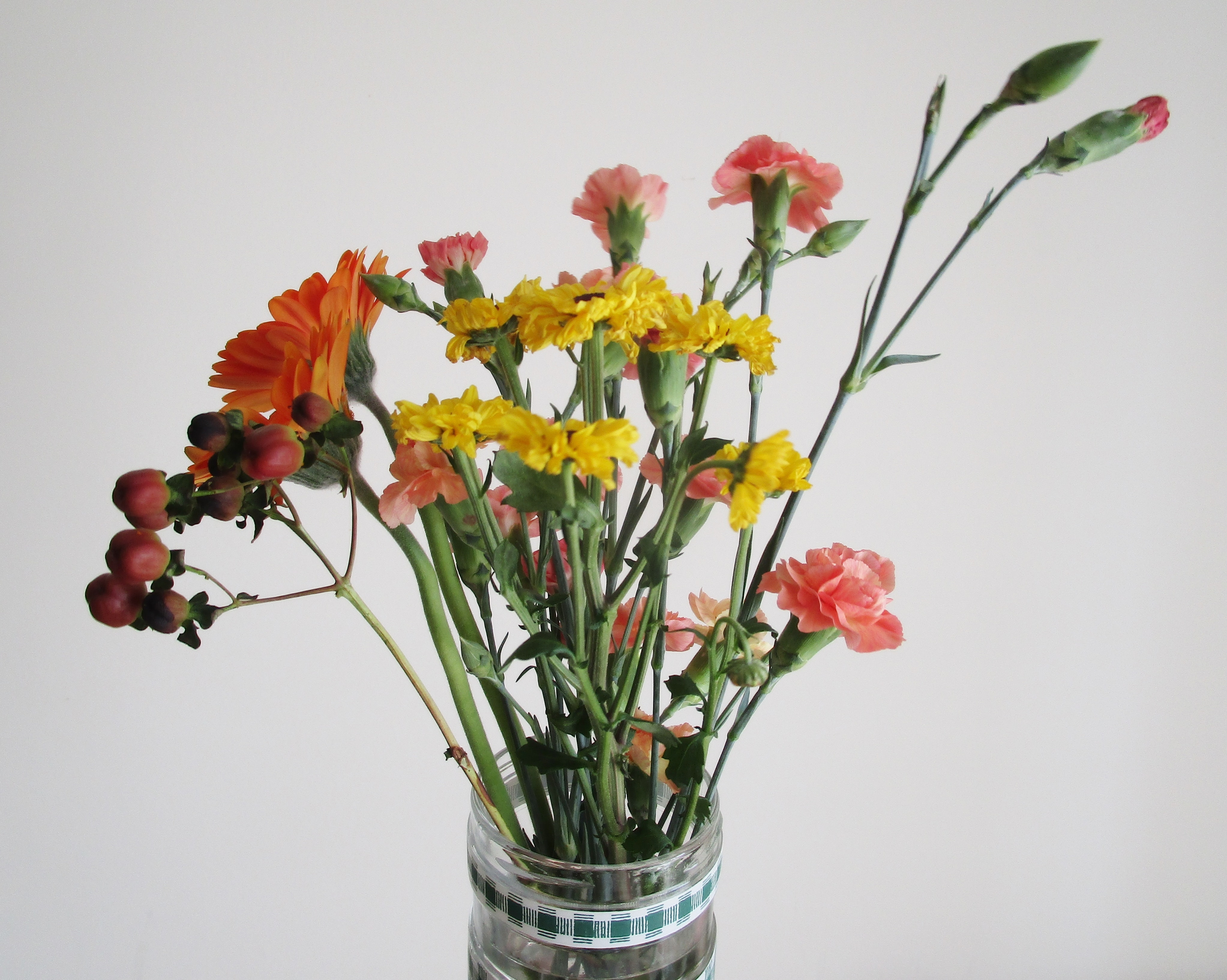 Free photo clear glass vase with red and yellow flowers leaves clear glass vase with red and yellow flowers leaves growth petals plants mightylinksfo