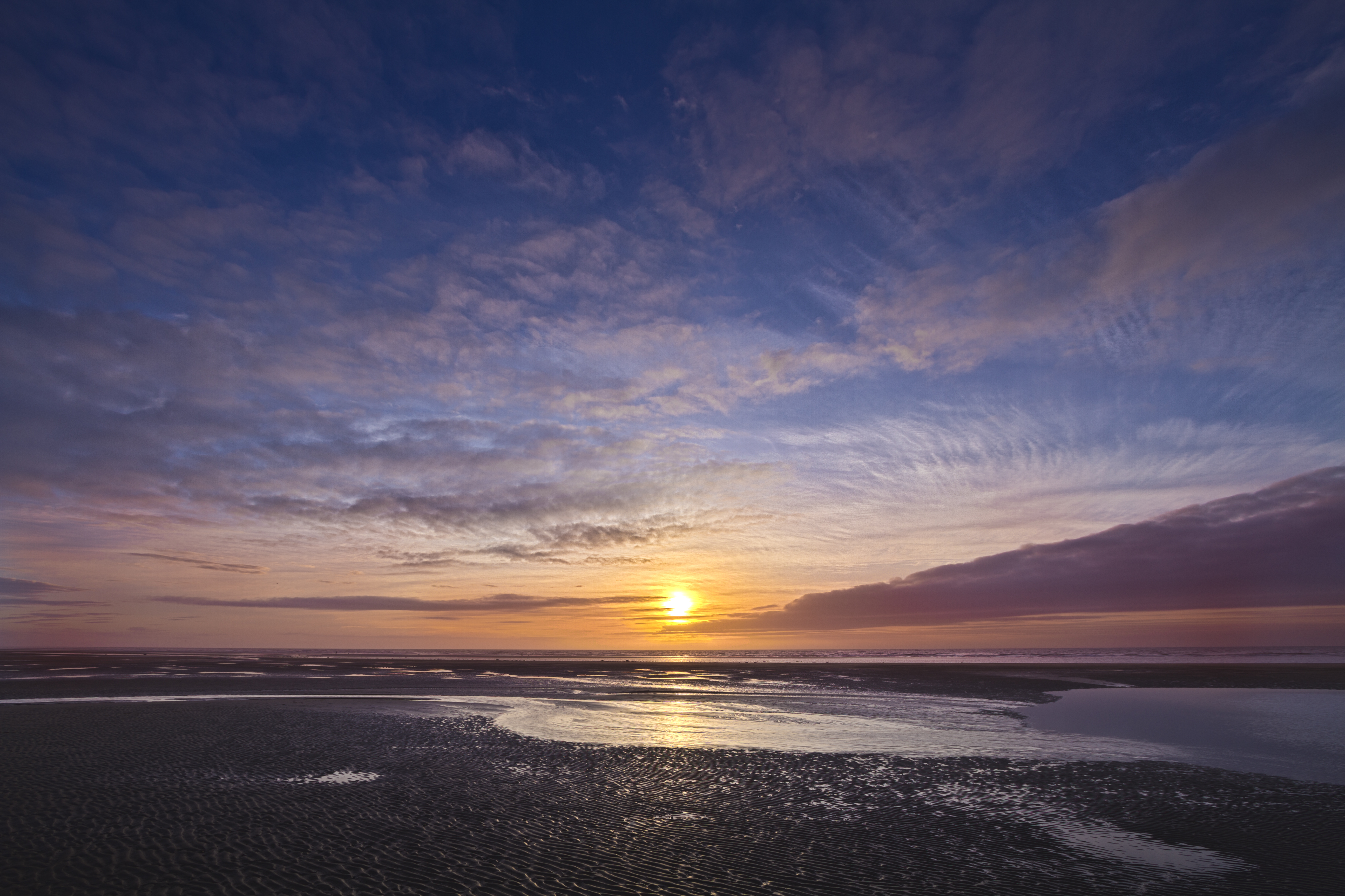 Cleveleys beach sunset photo