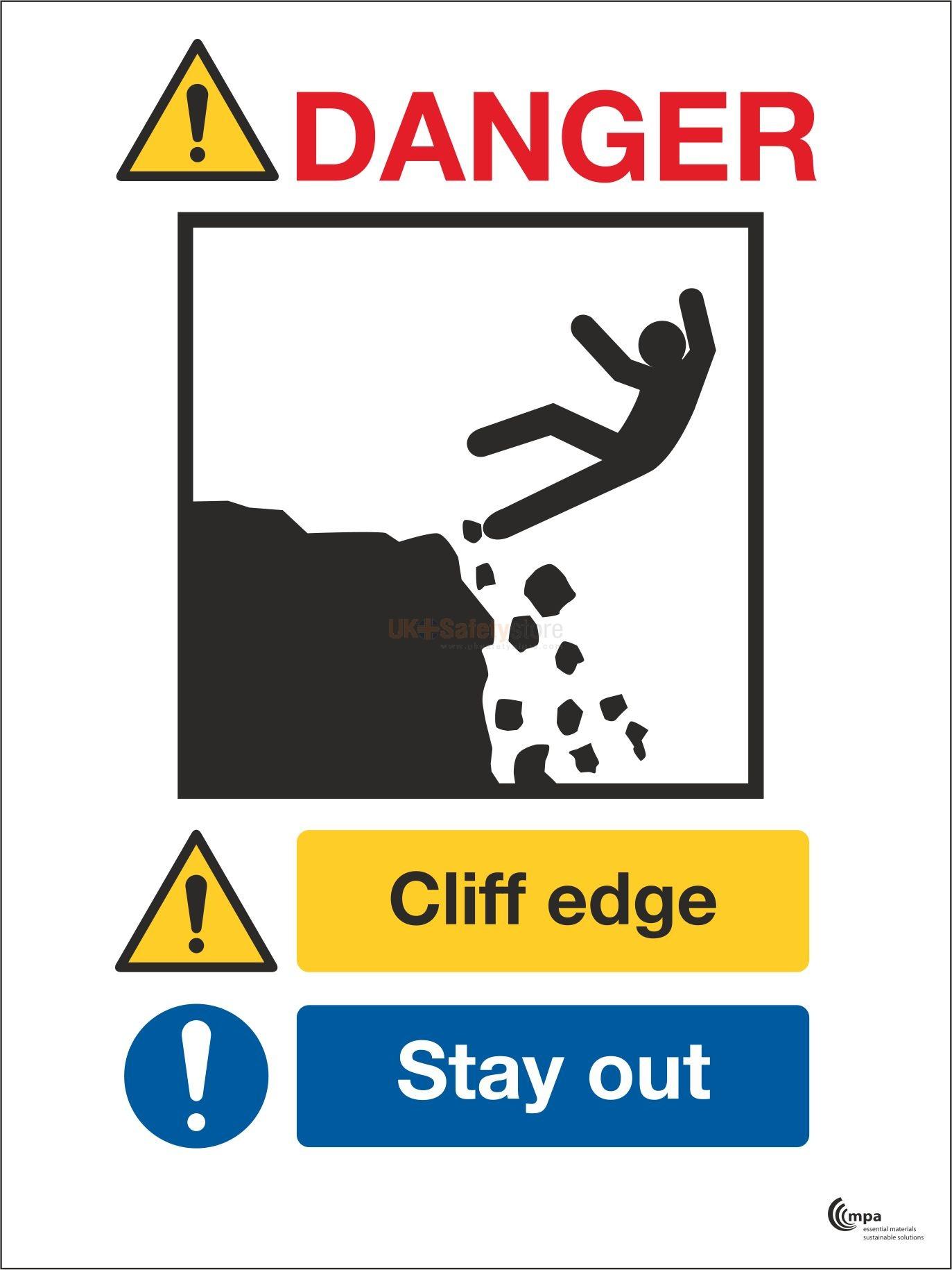 Cliff edge sign photo