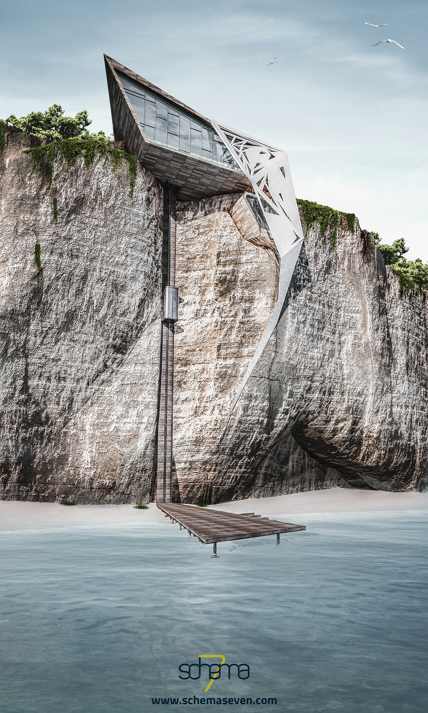 Wedge cliff house on Behance