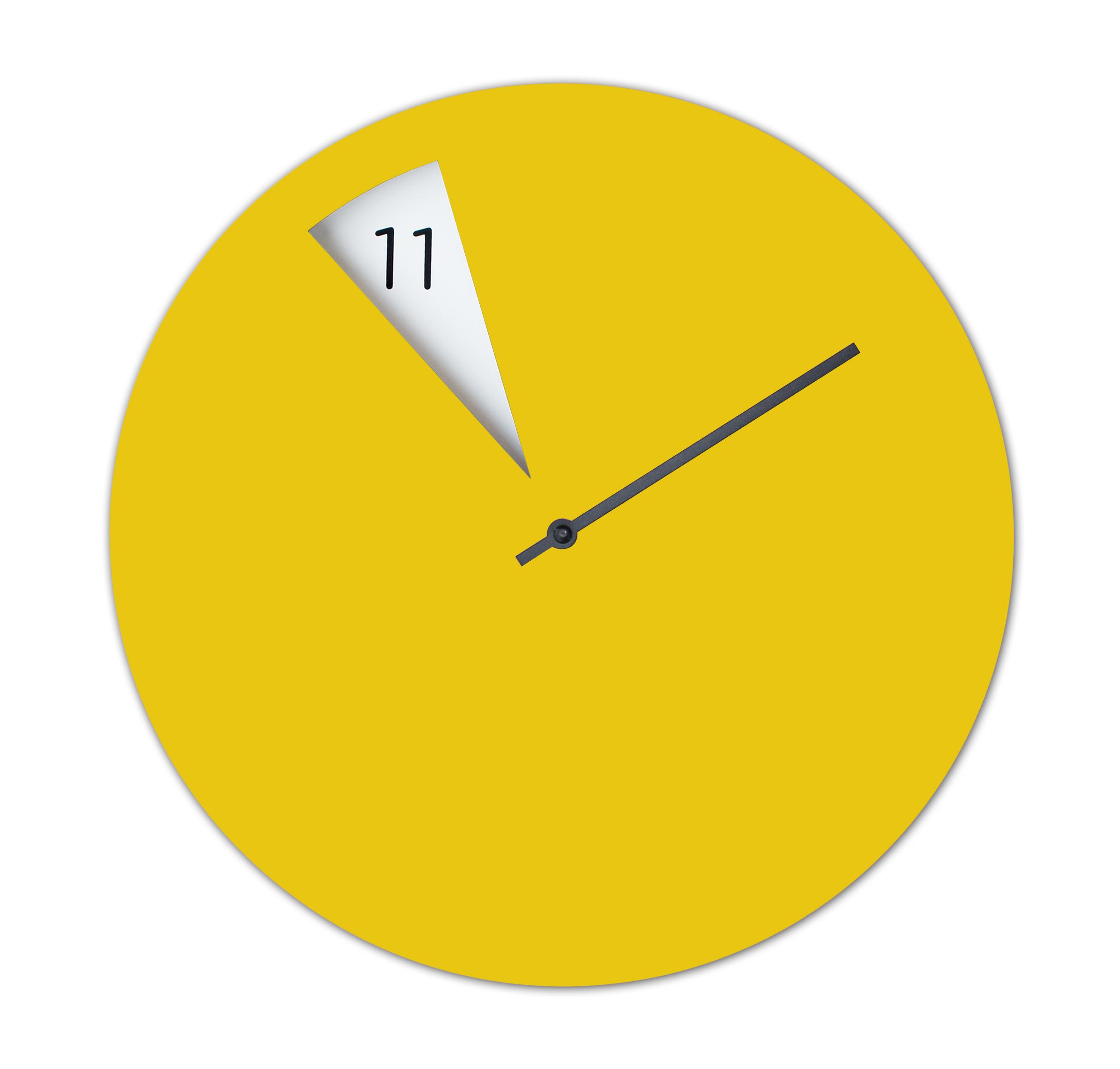Shop Freakish CLOCK Wall Clock Yellow on CROWDYHOUSE