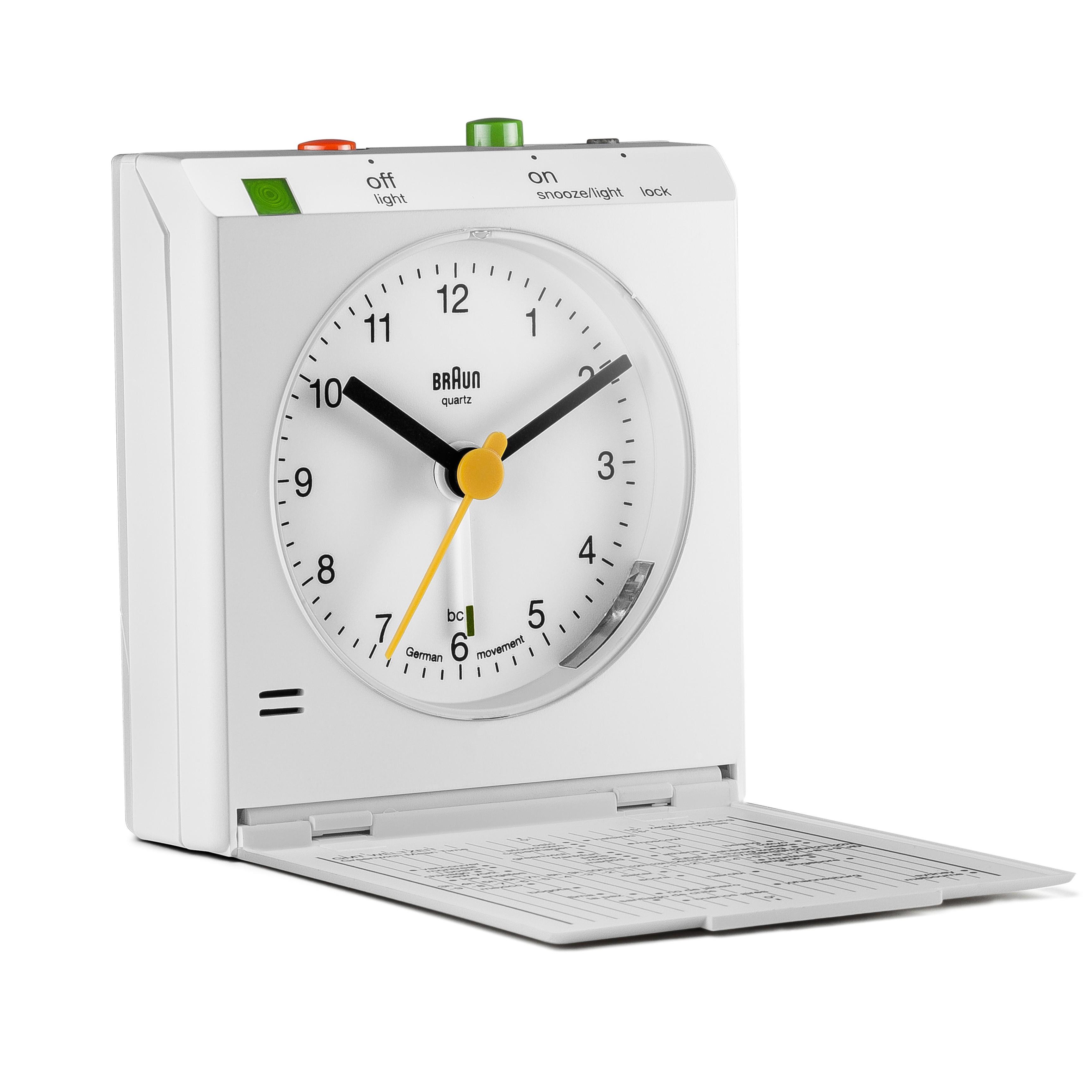 Braun BNC005 Classic Relflex Control Travel Alarm Clock - BNC005