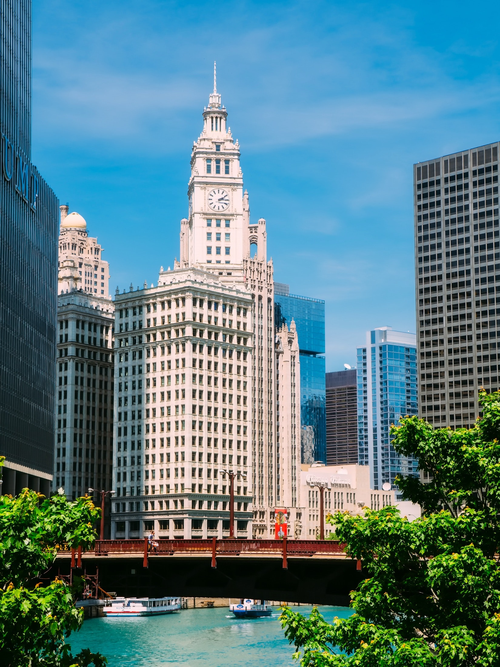 Clock tower in chicago photo