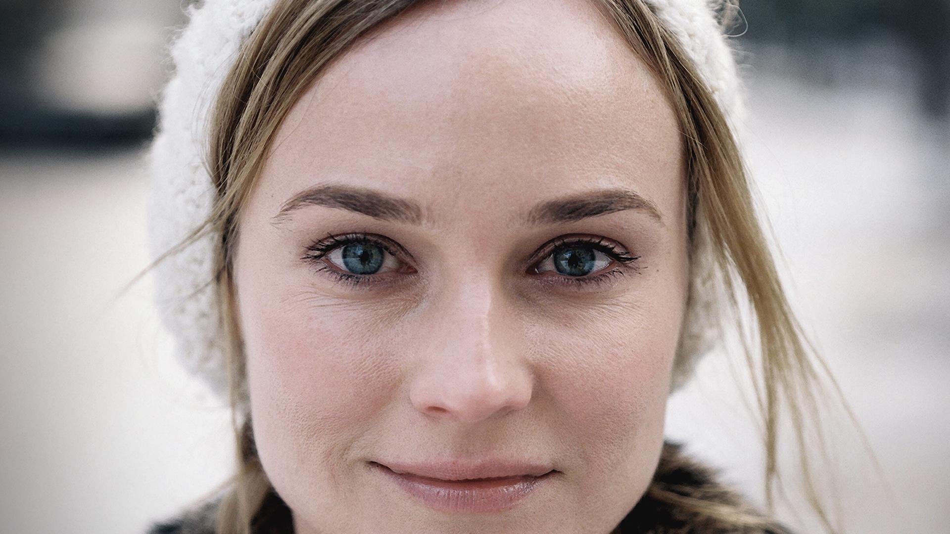 Diane Kruger Smiling Ultra Face Closeup Wallpaper
