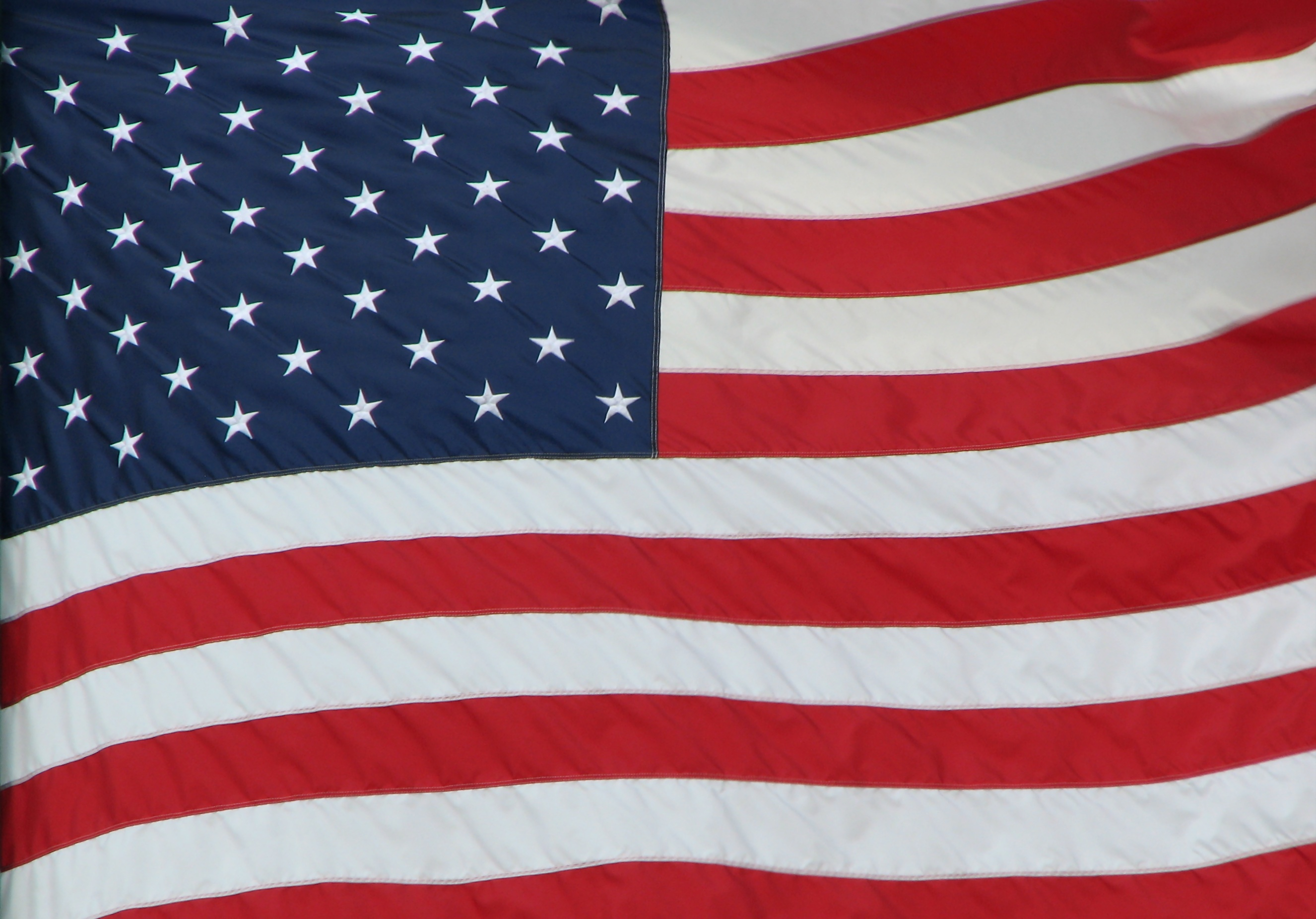 Close-up of an american flag photo
