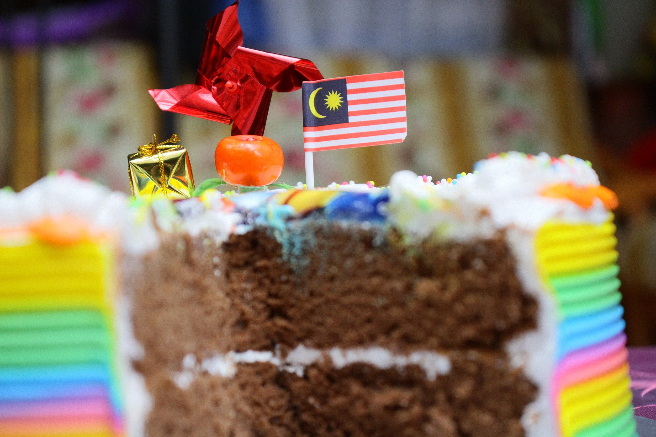 Close-up of birthday cake photo