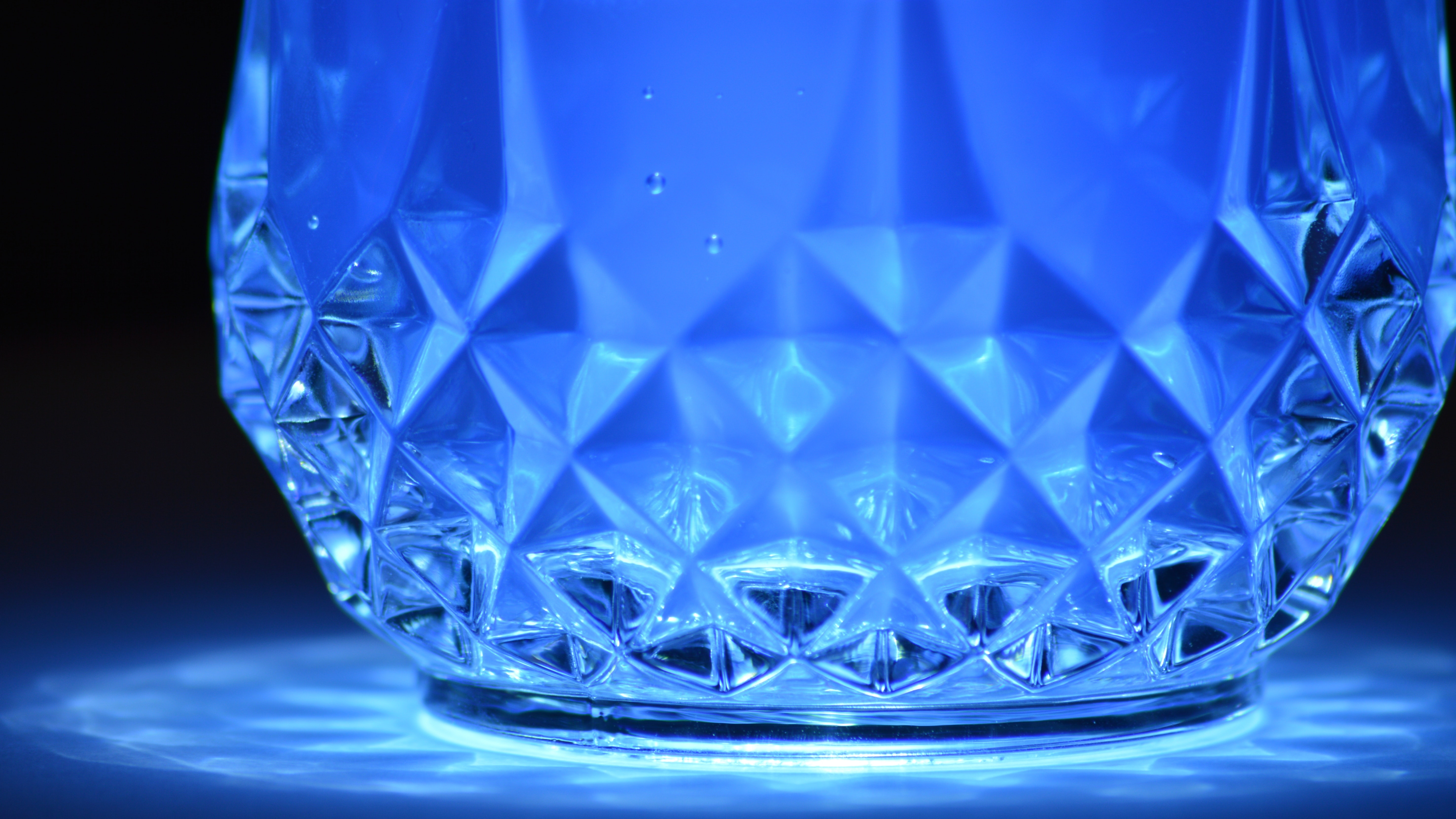Close-up of blue reflection photo