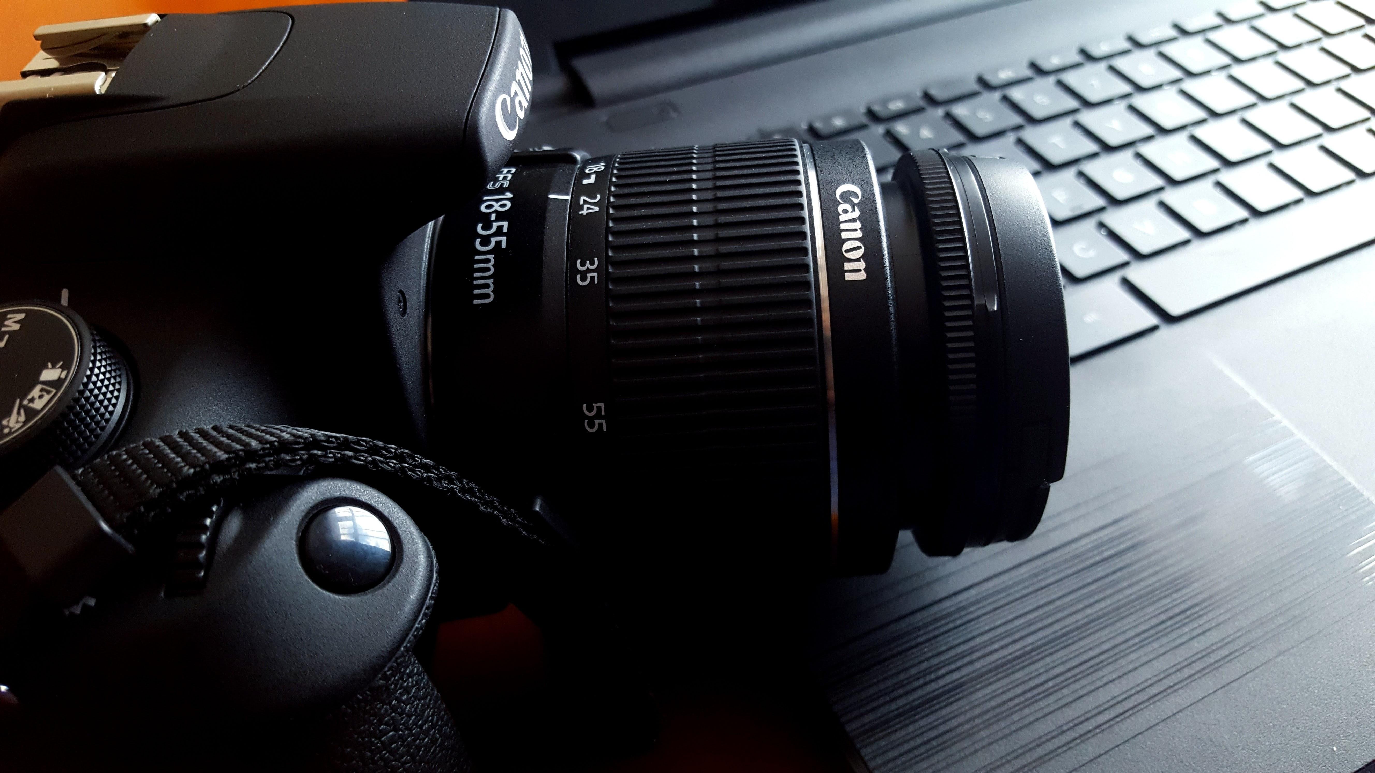 Close-up of canon camera photo