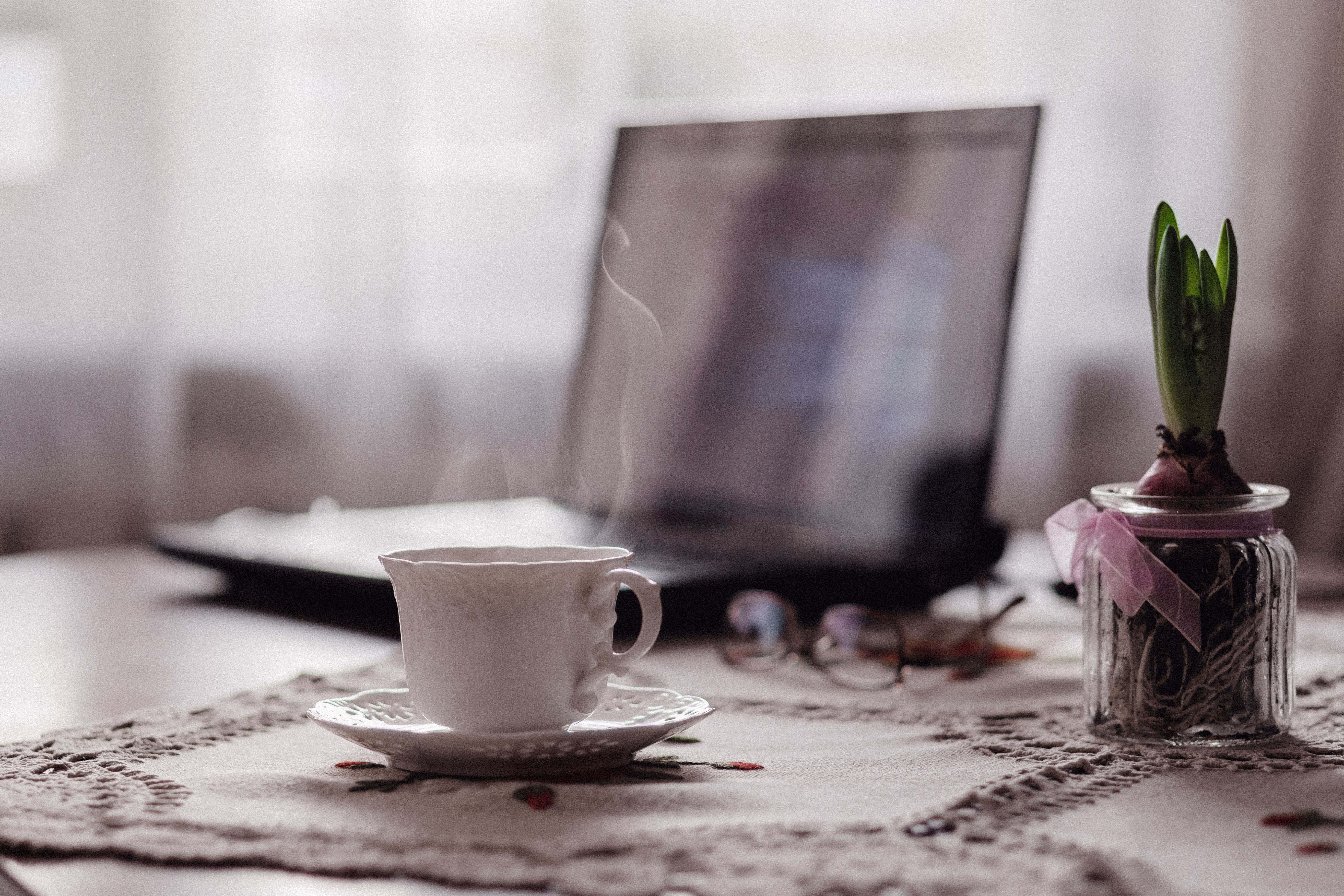 Close-up of coffee on table photo