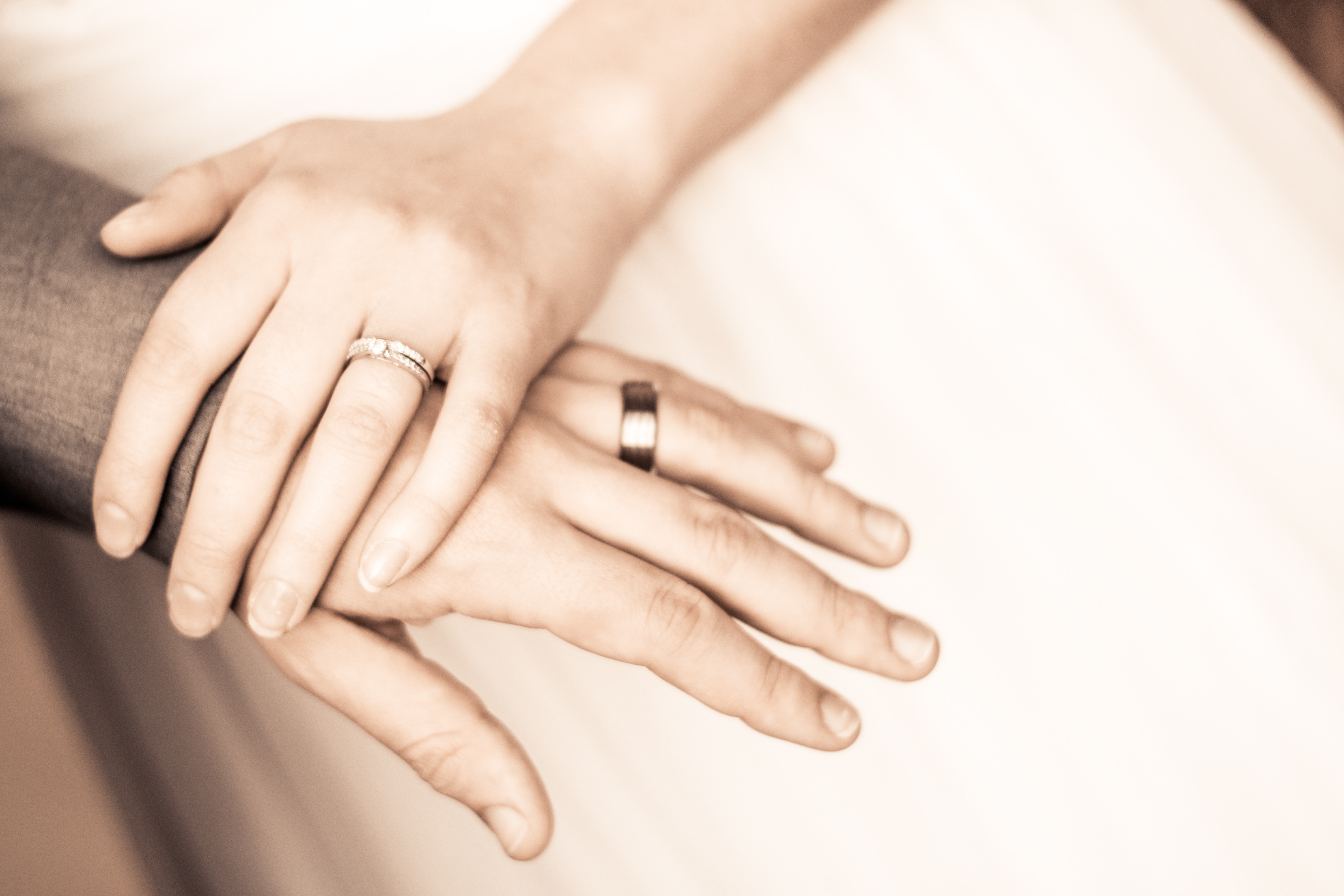 Close-up of Couple Holding Hands, Adult, Marriage, Wedding ring, Wedding, HQ Photo