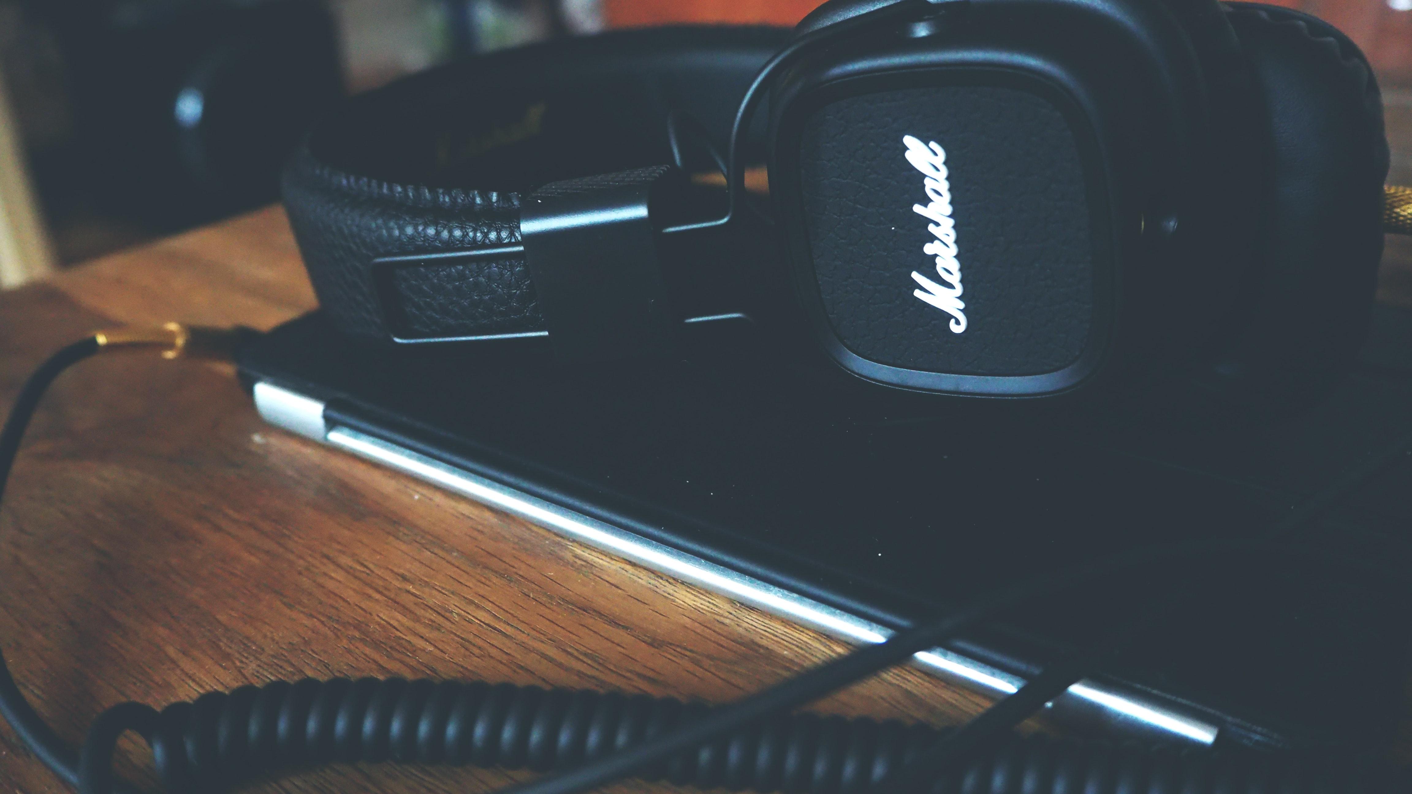 Close-up of headphone photo