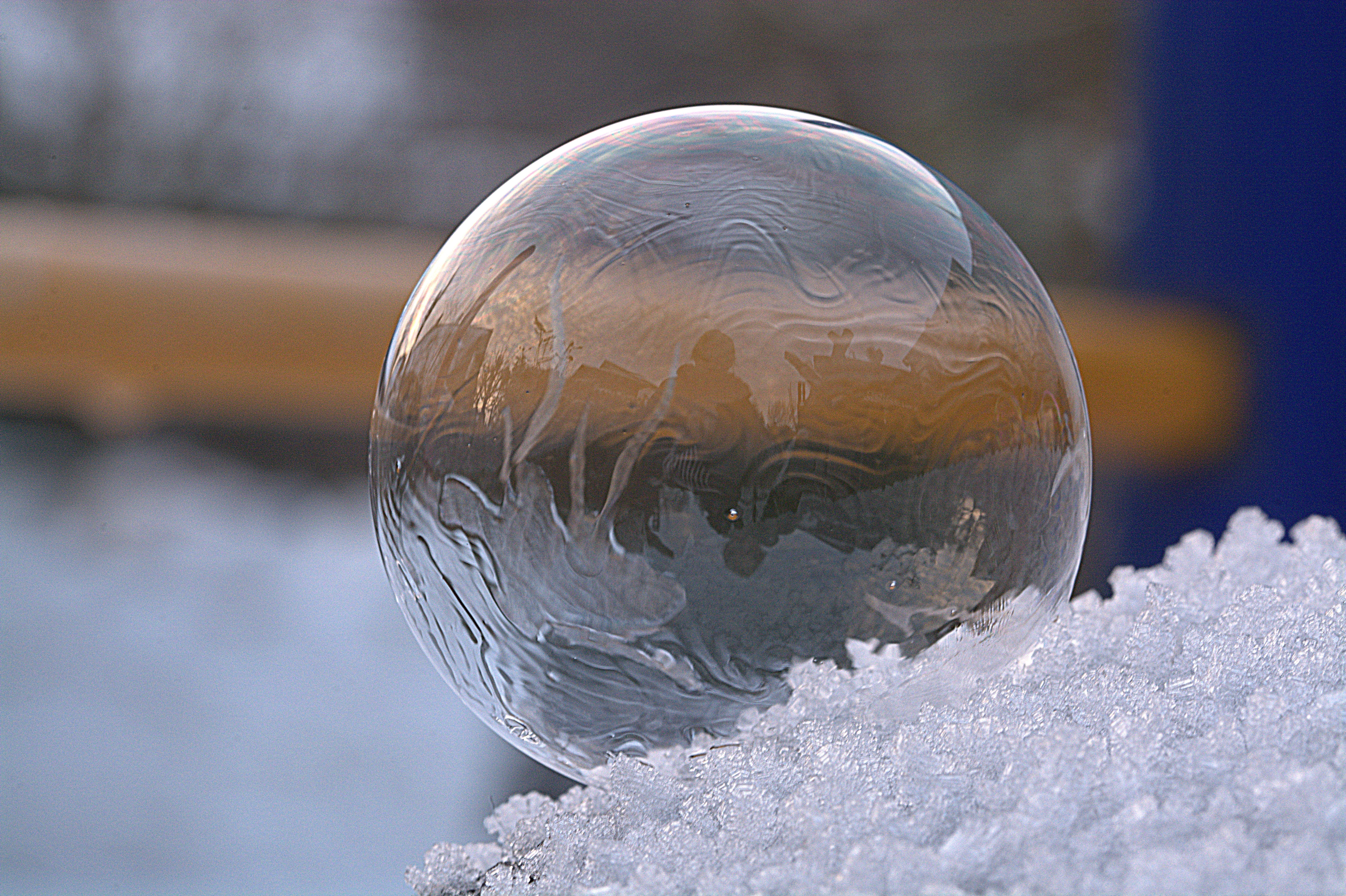 Close-up of ice photo