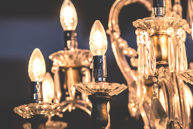 Close-up of illuminated light bulb photo
