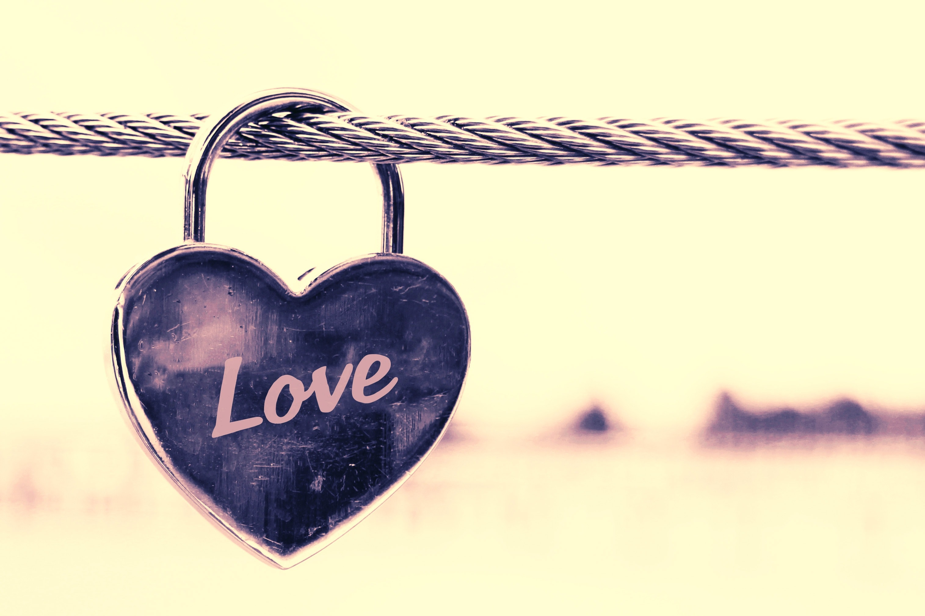Free Photo Close Up Of Padlocks Hanging On Heart Shape Love