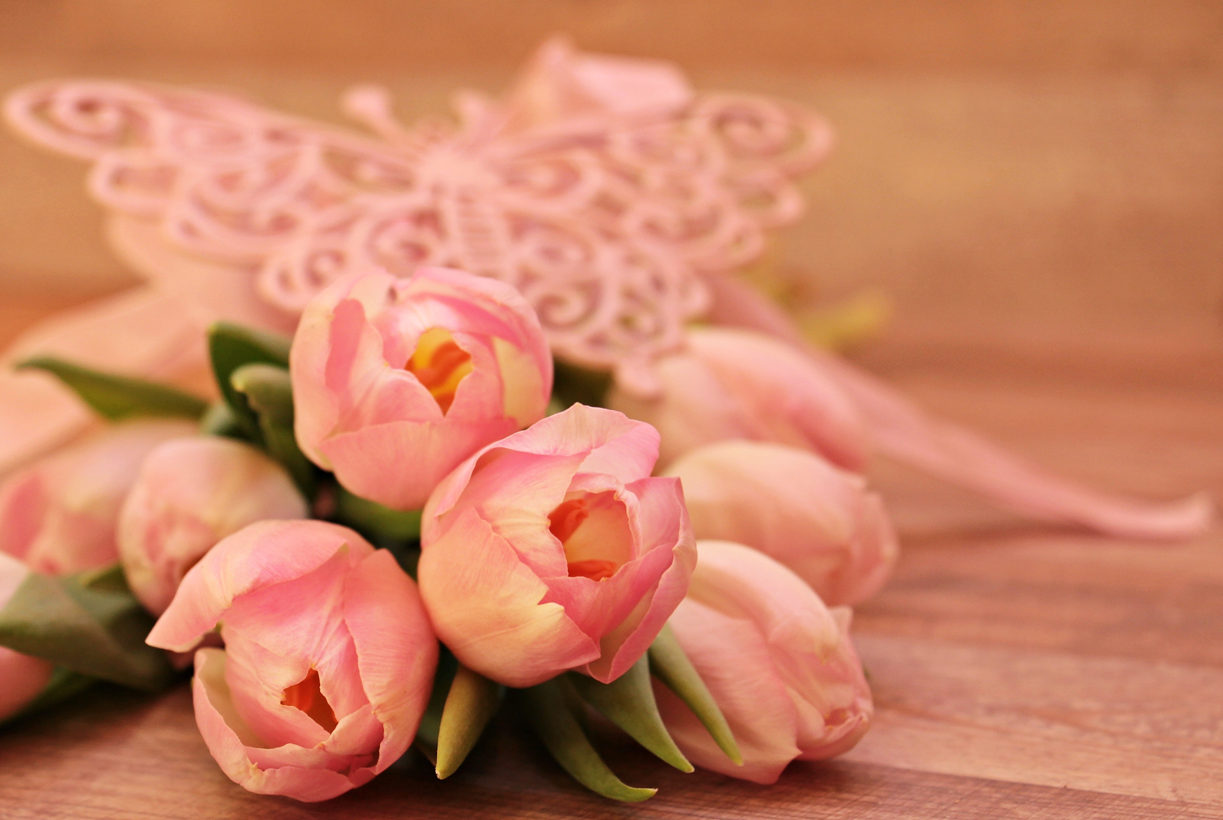 Free Photo Close Up Of Pink Flower Bouquet Romantic Pink Love