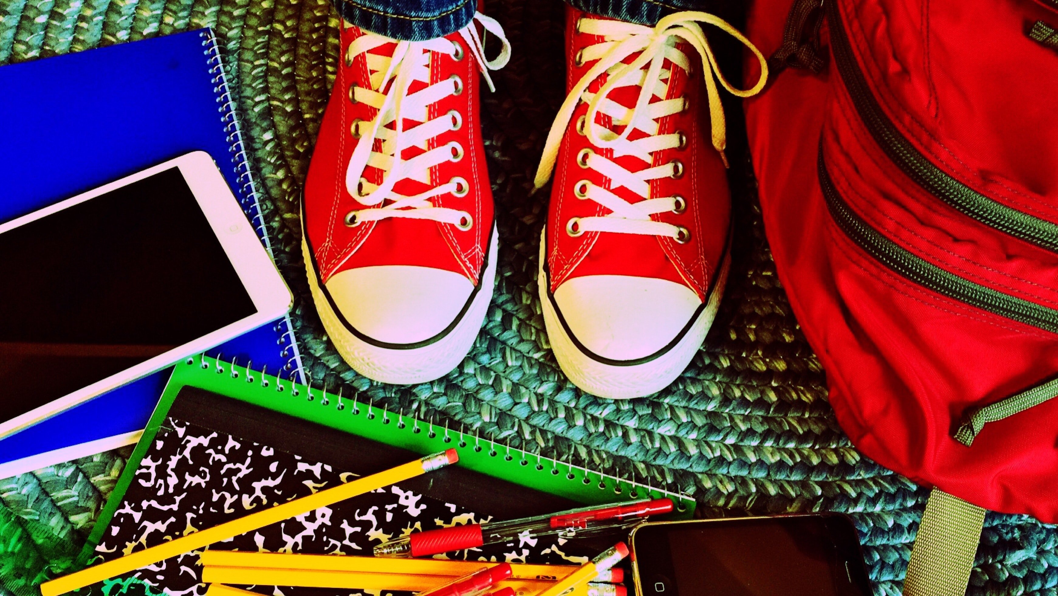 Close Up of Red Shoes, Chucks, Converse, Footwear, Notebooks, HQ Photo