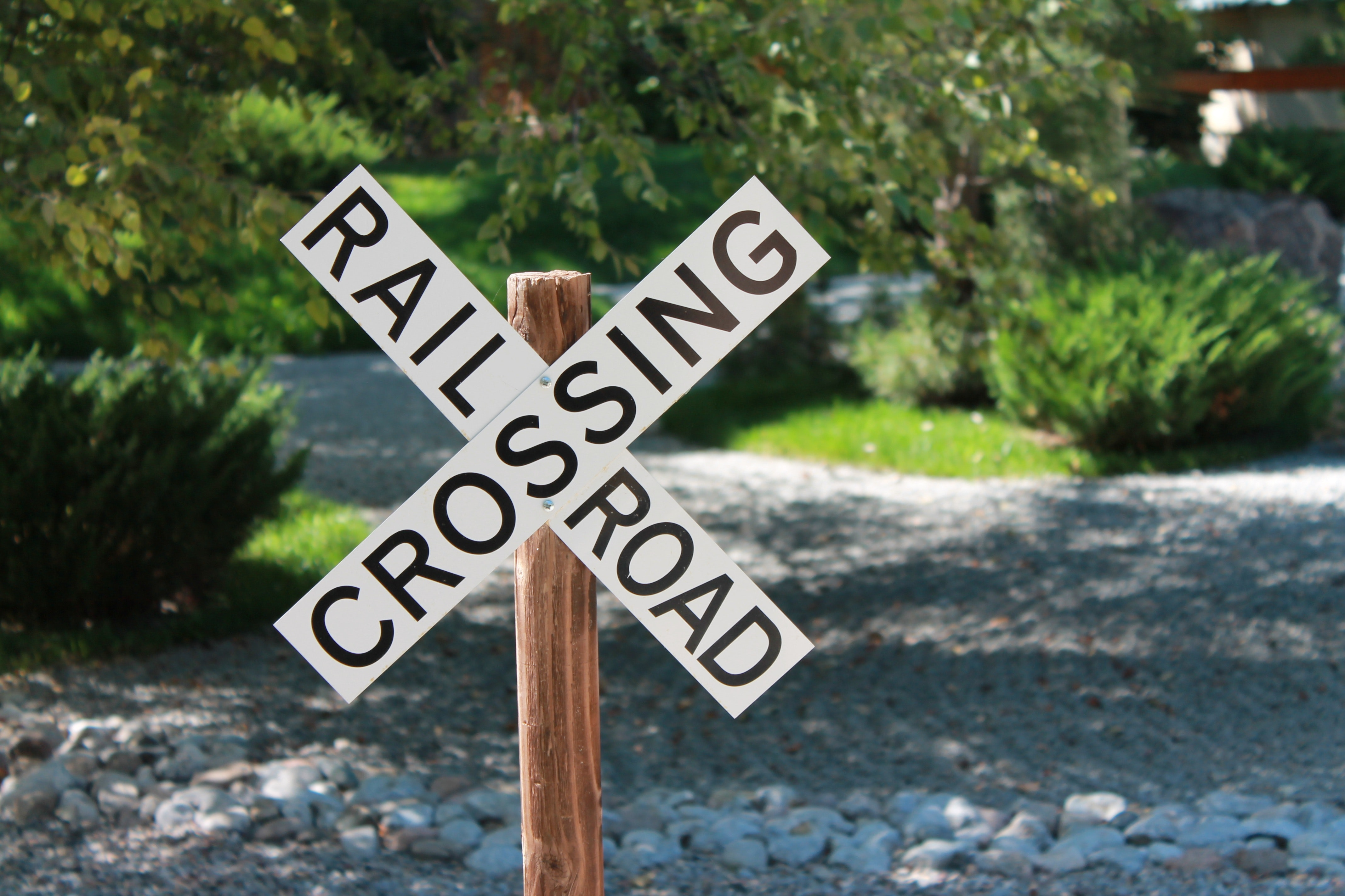 Close-up of road sign photo