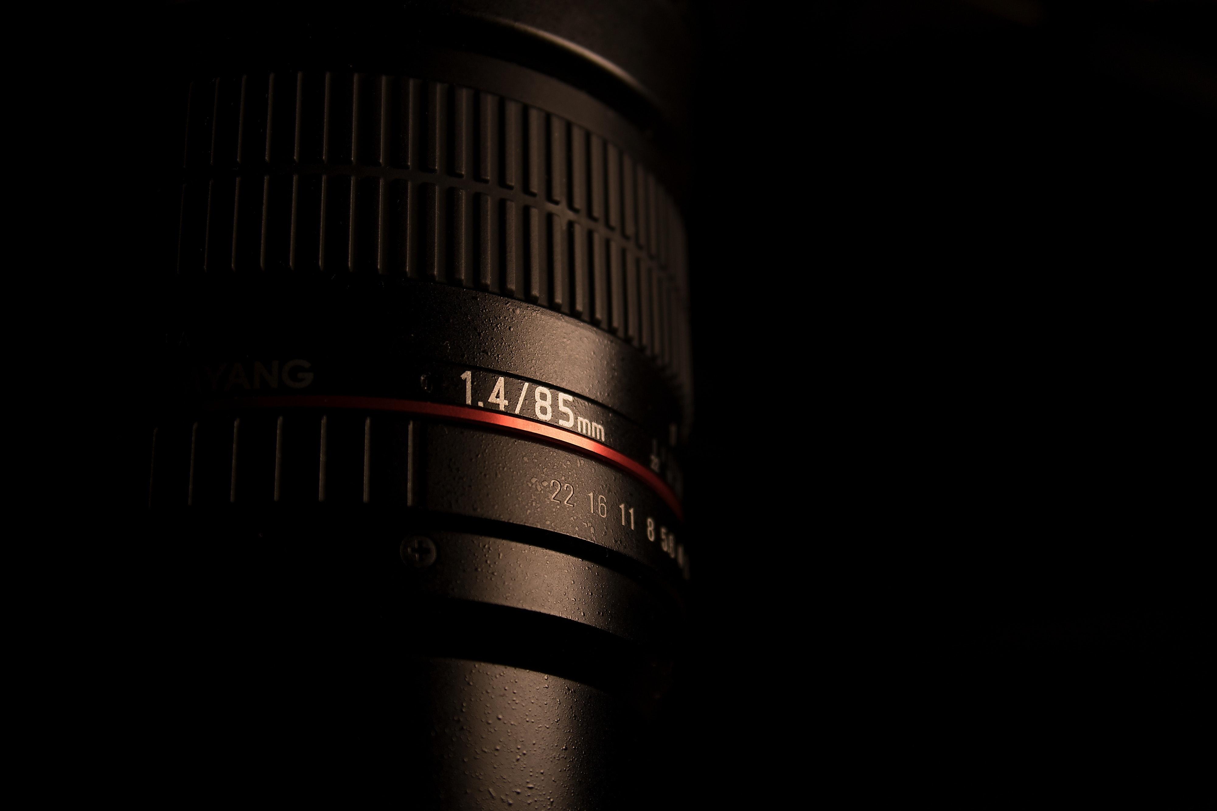 Close up photo of camera lens body