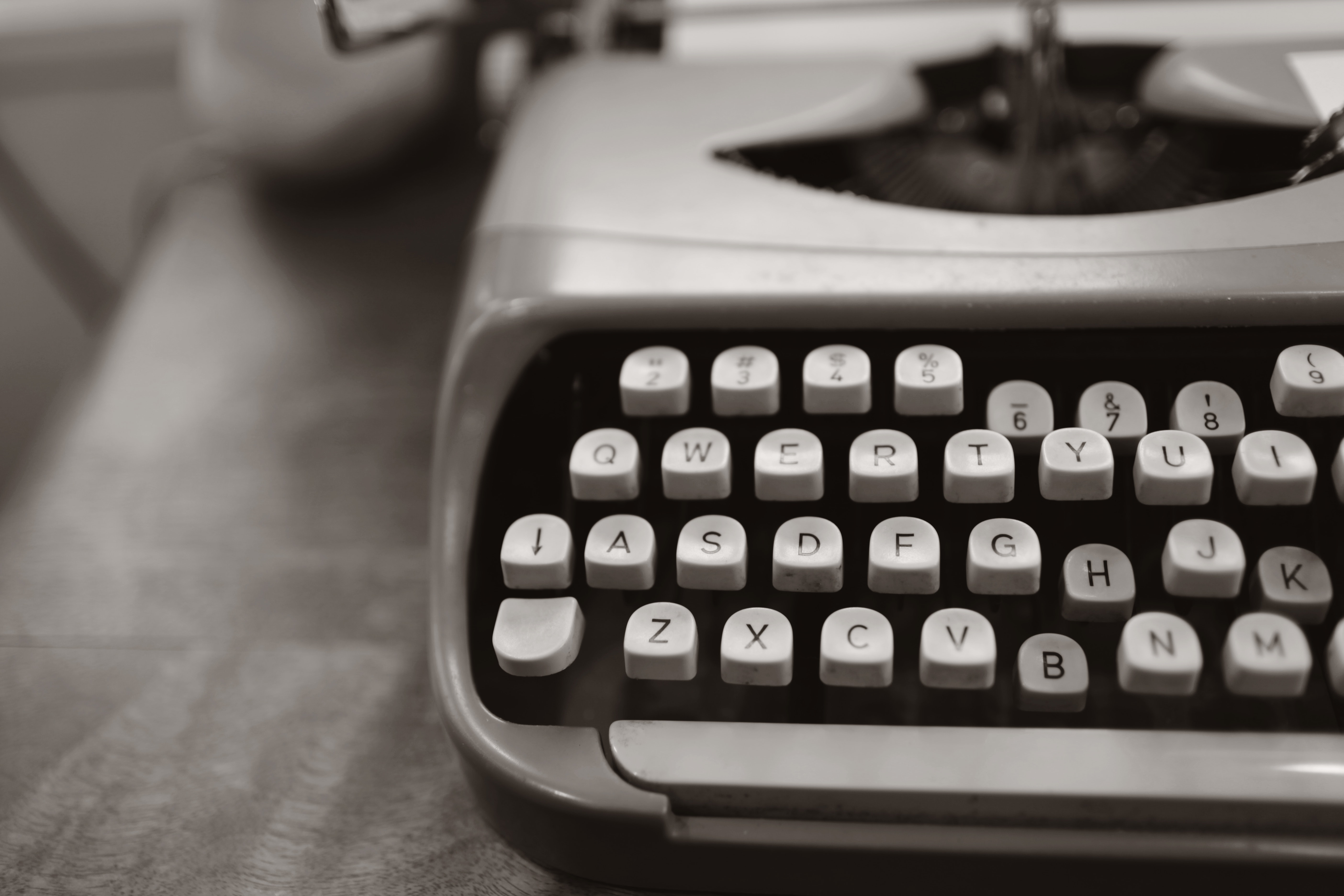 Close-up Photo of Gray Typewriter, Number, Writing, Work, Vintage, HQ Photo