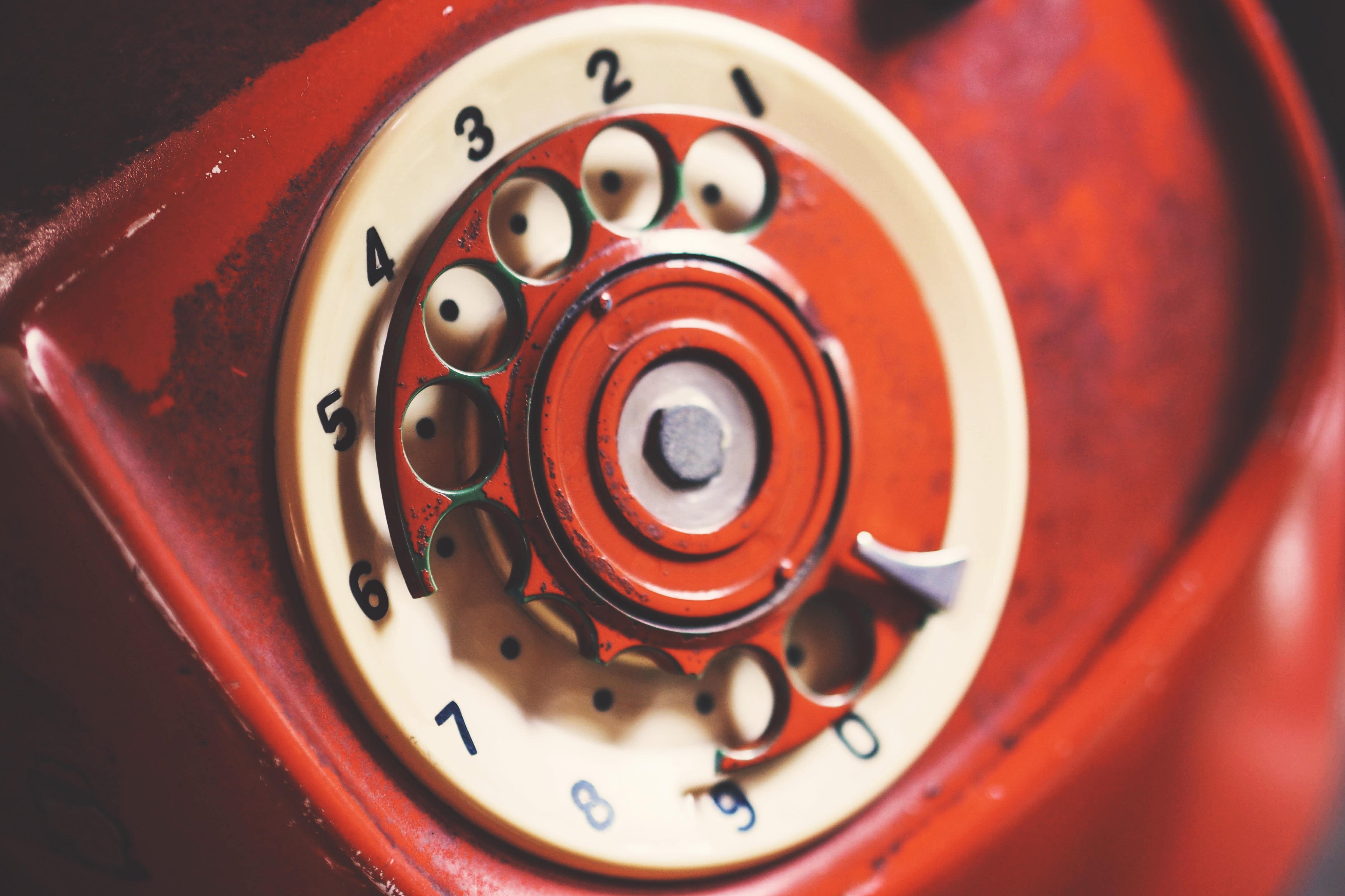 Close-up Photo of Rotary Telephone, Aged, Vintage, Telephone, Technology, HQ Photo