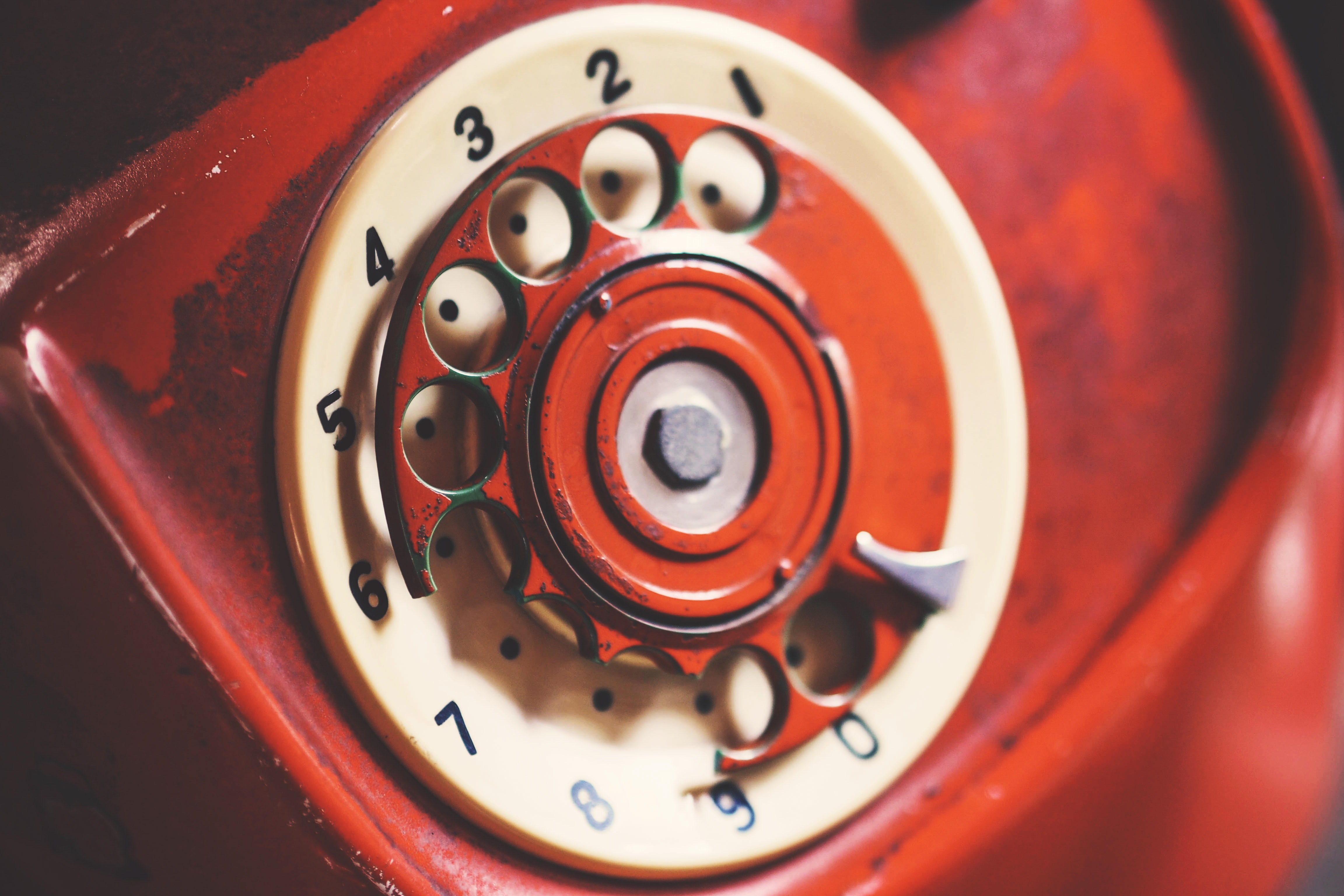 Free photo: Close-up Photo of Rotary Telephone - Retro, Ring
