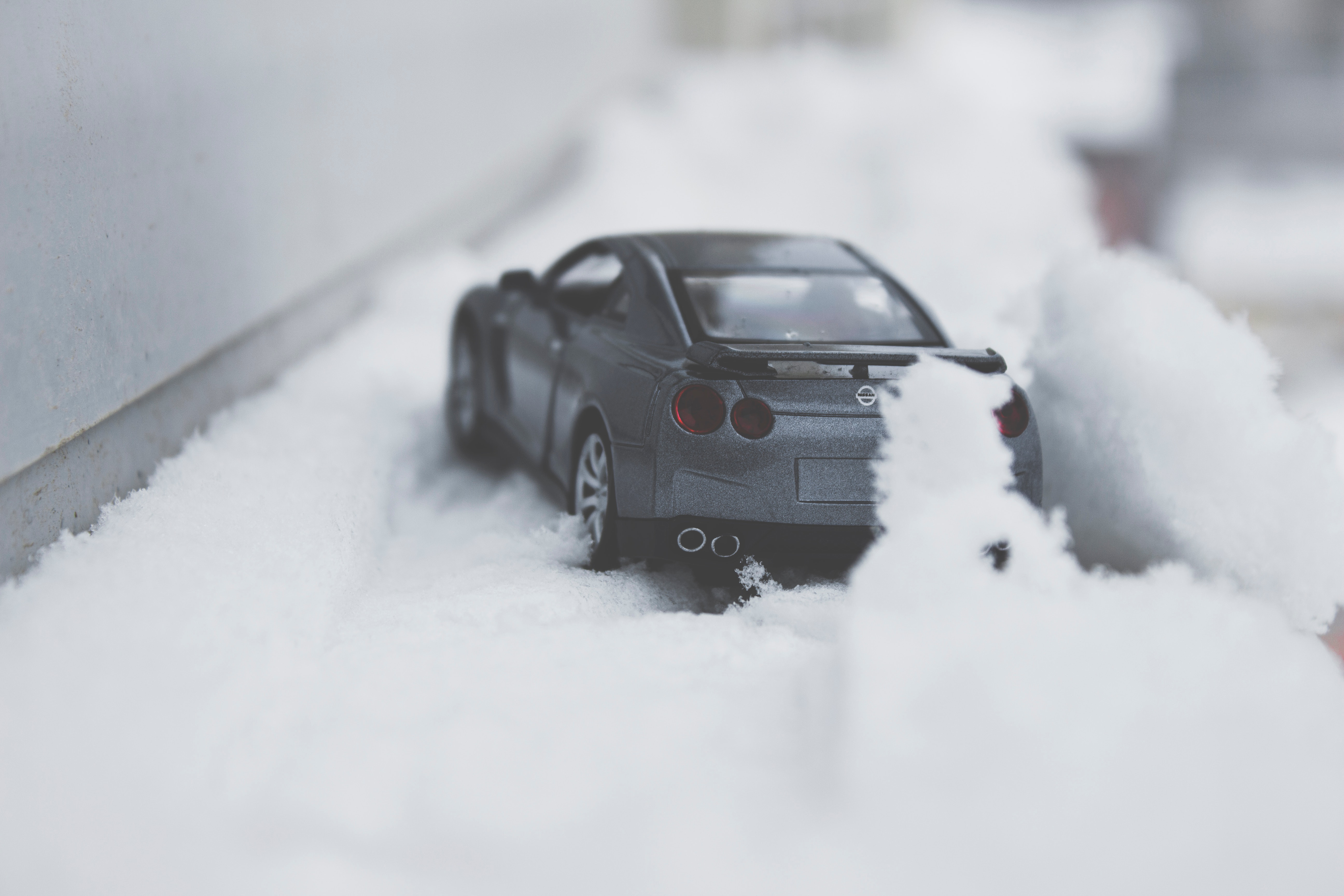 Close-up Photo of Toy Car on Snow, Action, Road, Weather, Vehicle, HQ Photo