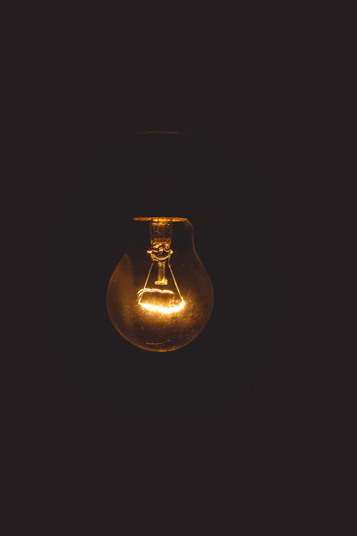 Close Up Photo Ofg Light Bulb, Glow, Technology, Power, Luminescence, HQ Photo