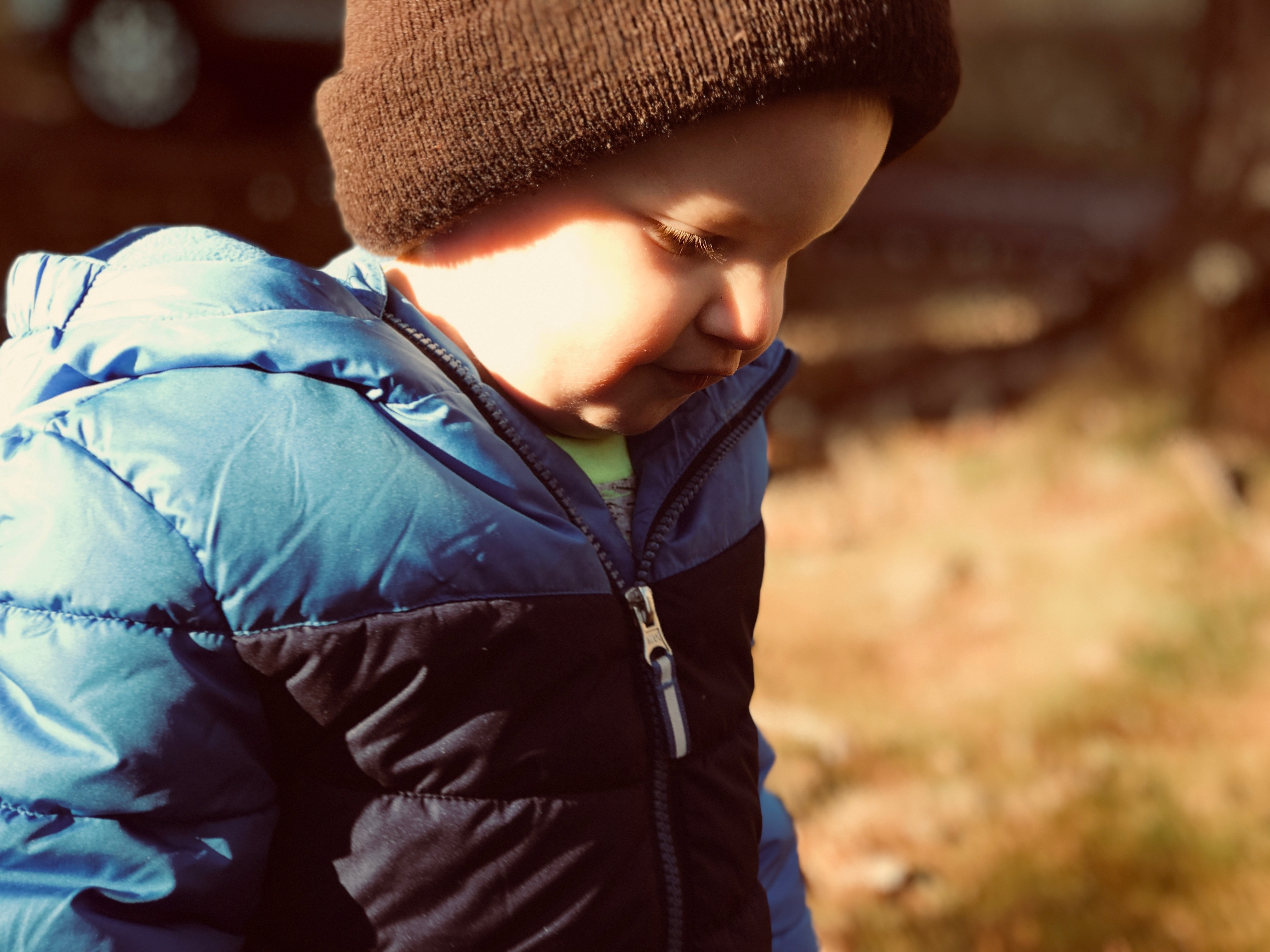Close-up Photography of a Boy, Adorable, Jacket, Winter, Wear, HQ Photo