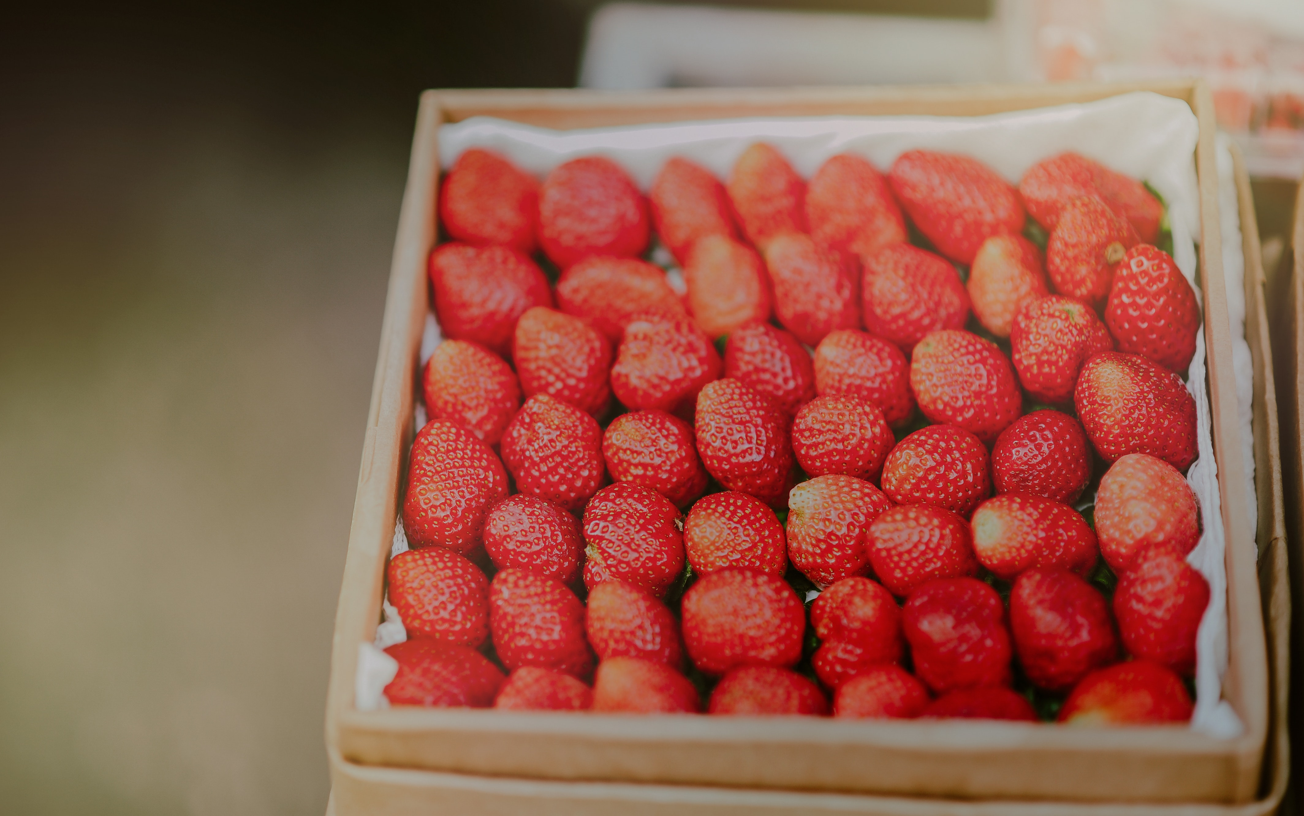 Close-up photography of stawberries