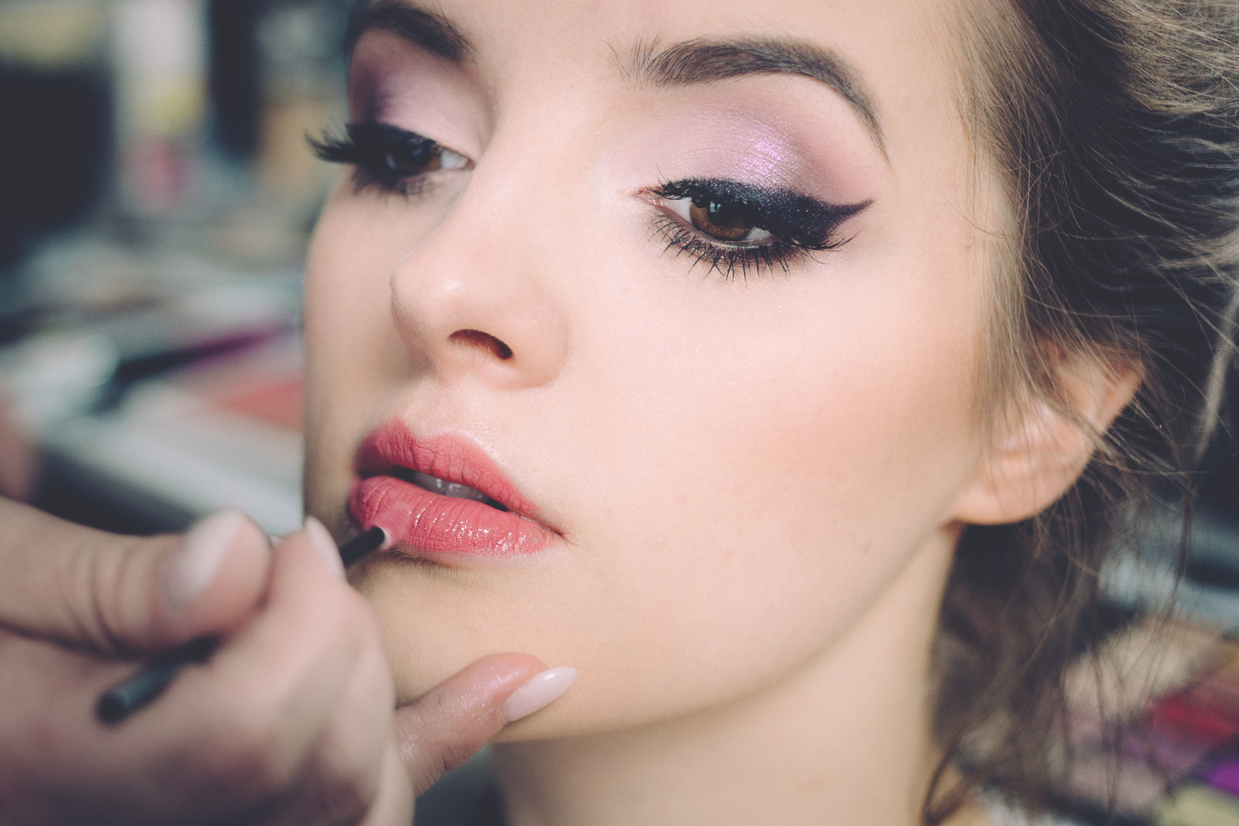 Close-up Portrait of Young Woman, Lipstick, Young, Woman, Style, HQ Photo